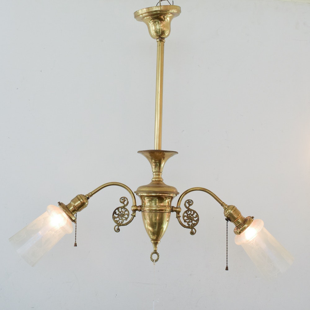 Vintage Brass Ceiling Light