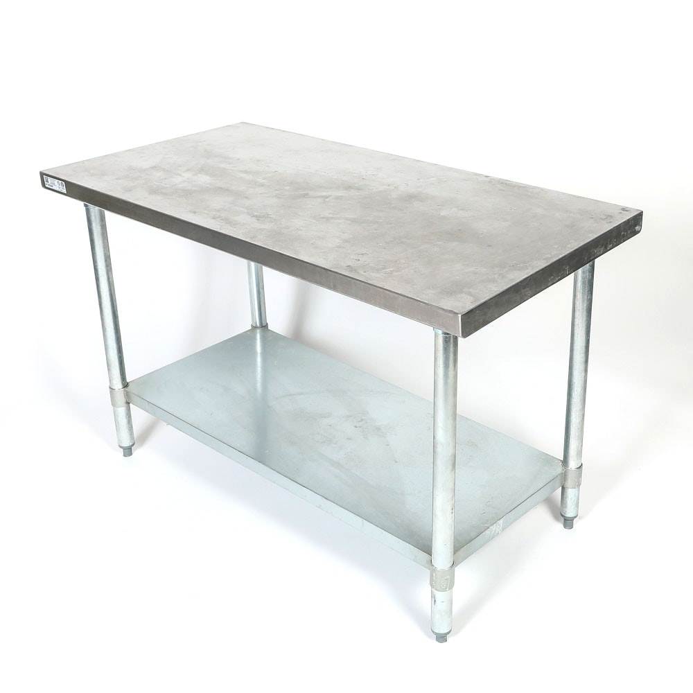 "Atlanta Culinary Equipment Stainless Steel Flat Top 30"" x 48"" Work Table"