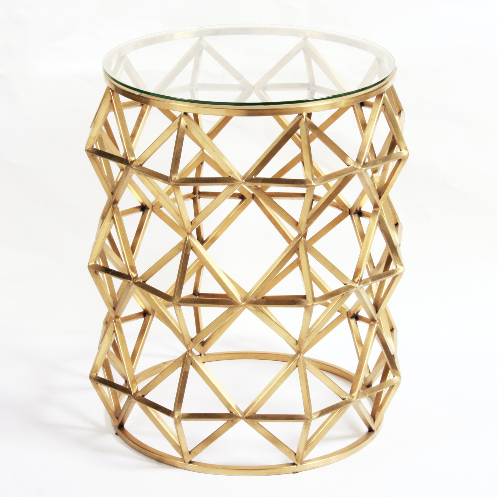 Modern Style Geometric Side Table by Blink Home
