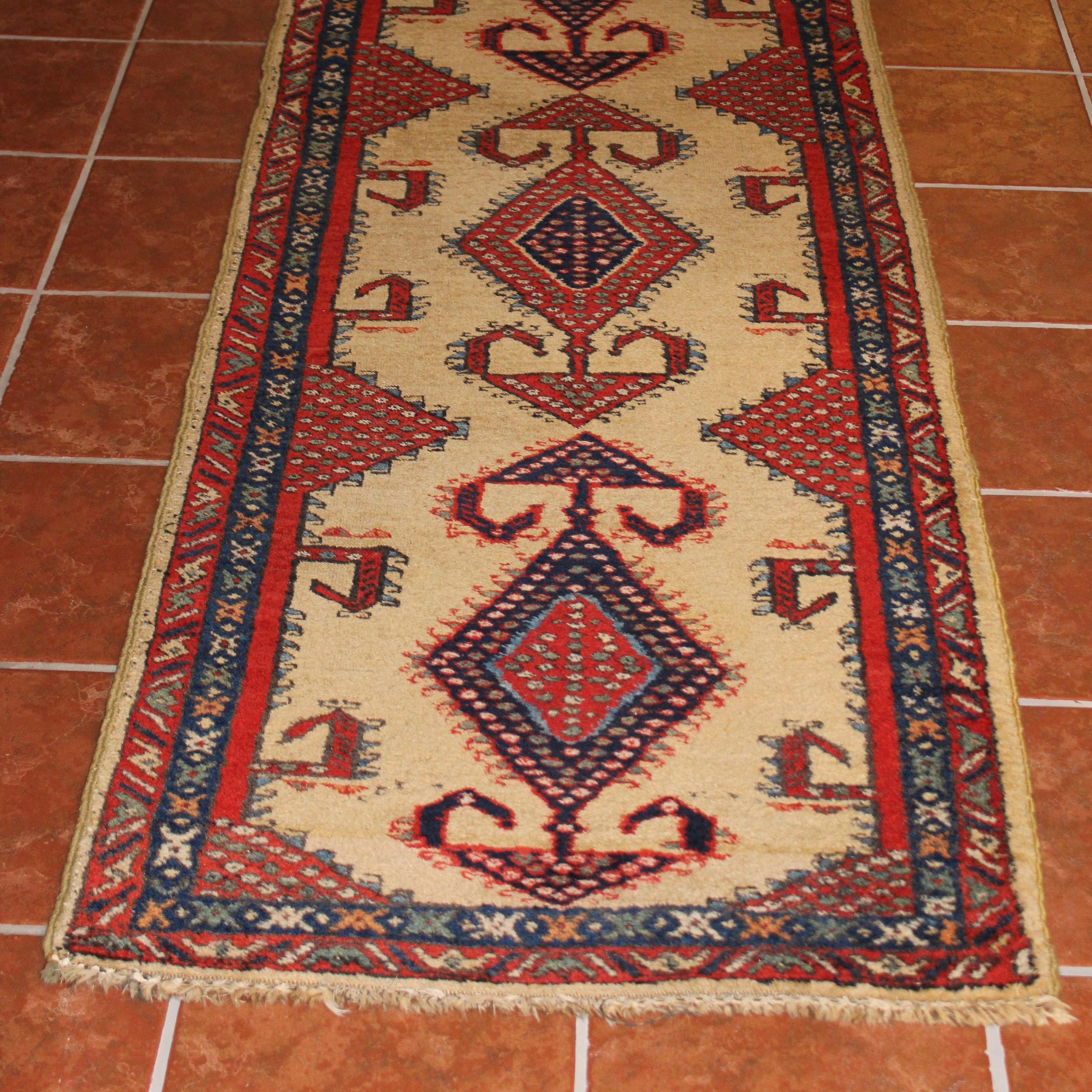 Hand-Woven Turkish Kilim Wool Runner