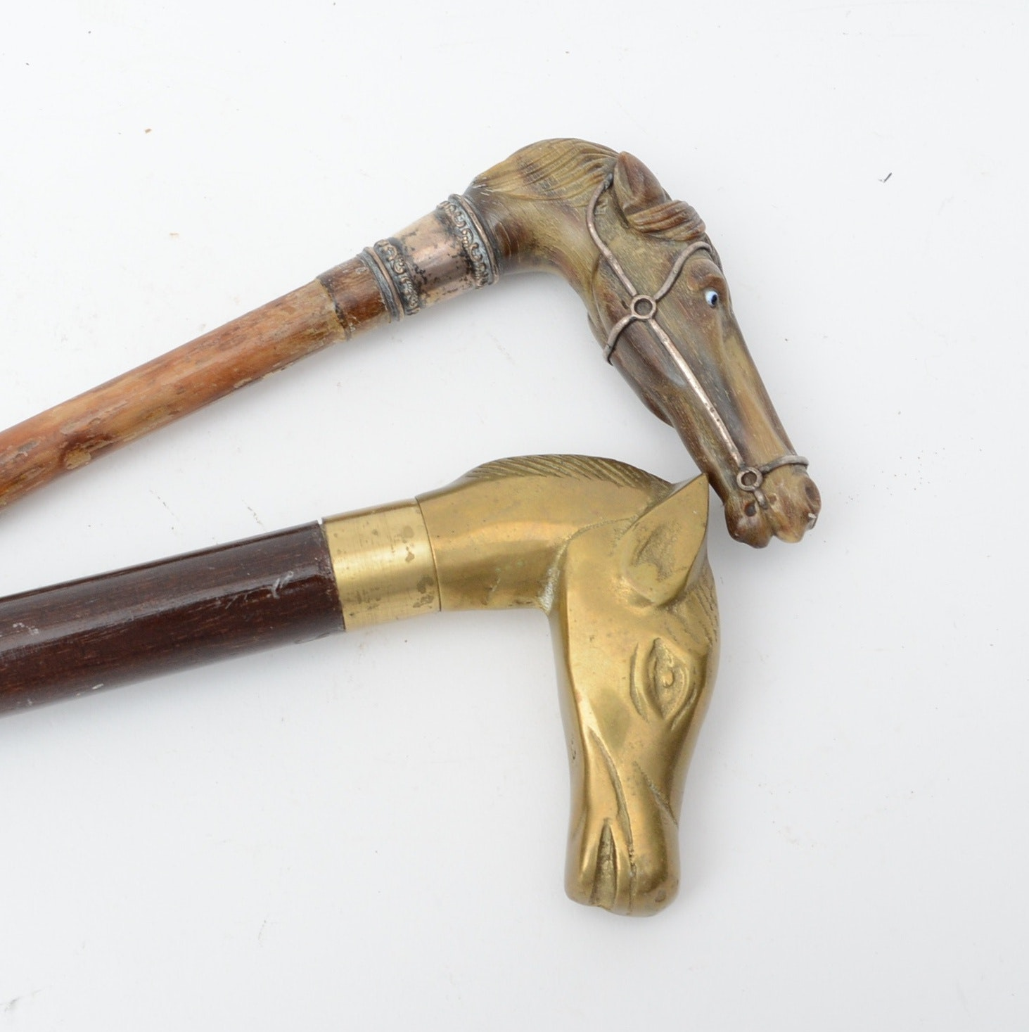 Brass Horse Head Canes