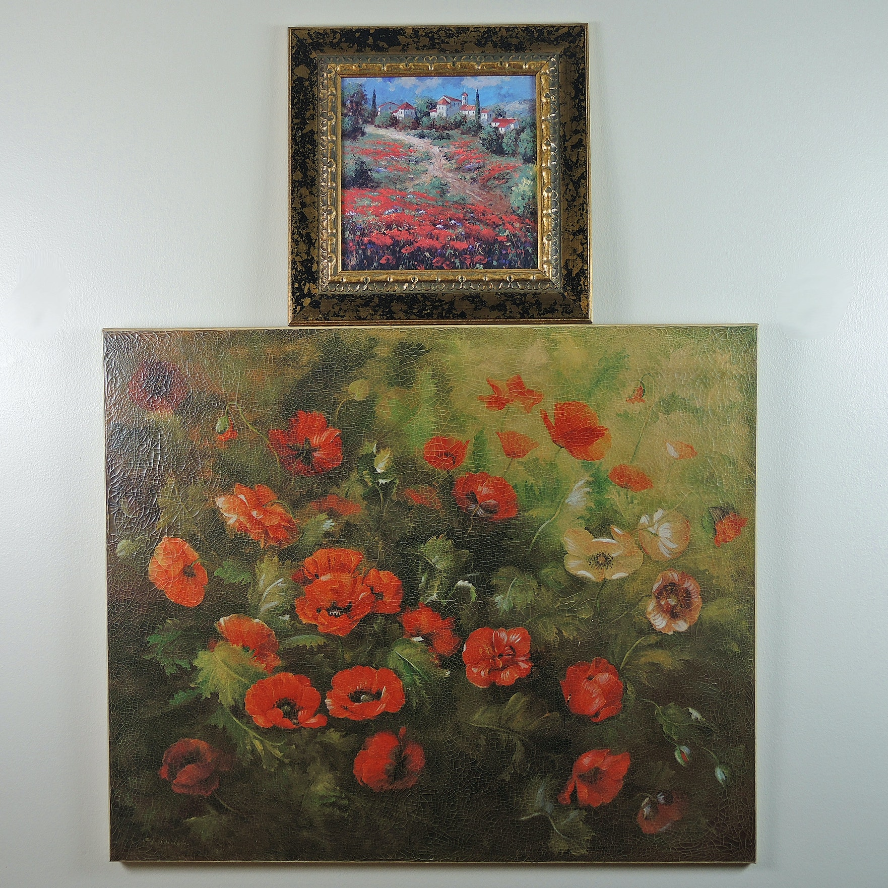 "Fabrice de Villeneuve Giclee ""Red Poppies"""