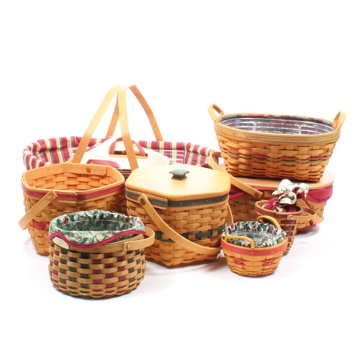 Longaberger Christmas Collection Baskets