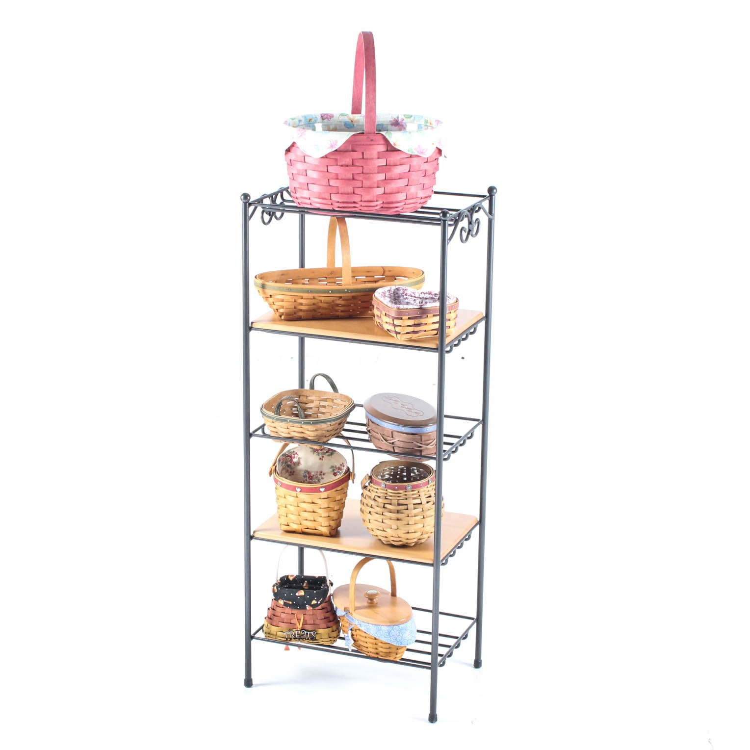 Longaberger Wrought Iron Stand and Baskets