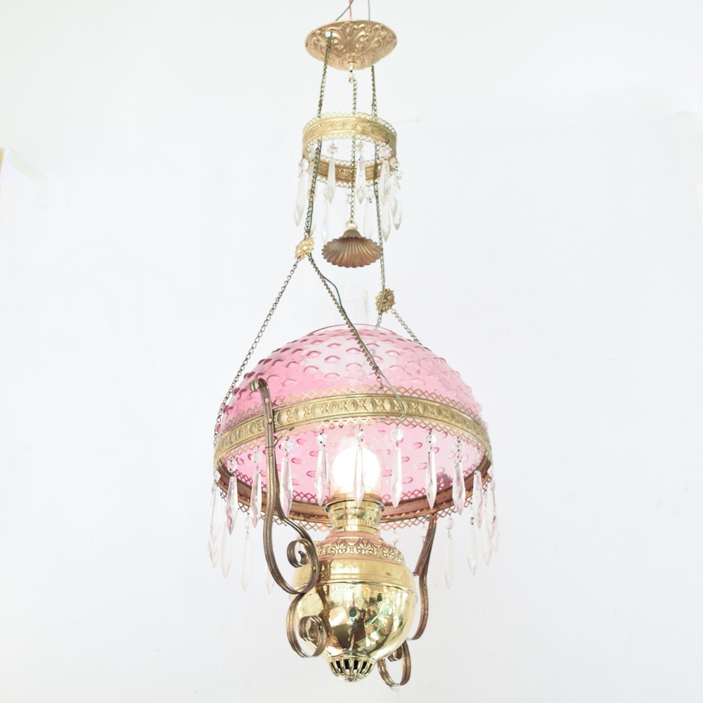 Parlor Style Converted Ceiling Lamp