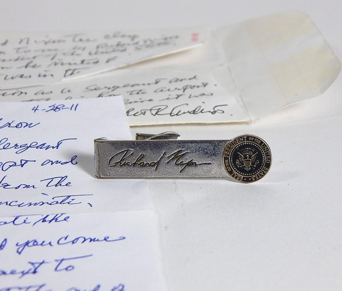 Richard Nixon Tie Clasp and Story