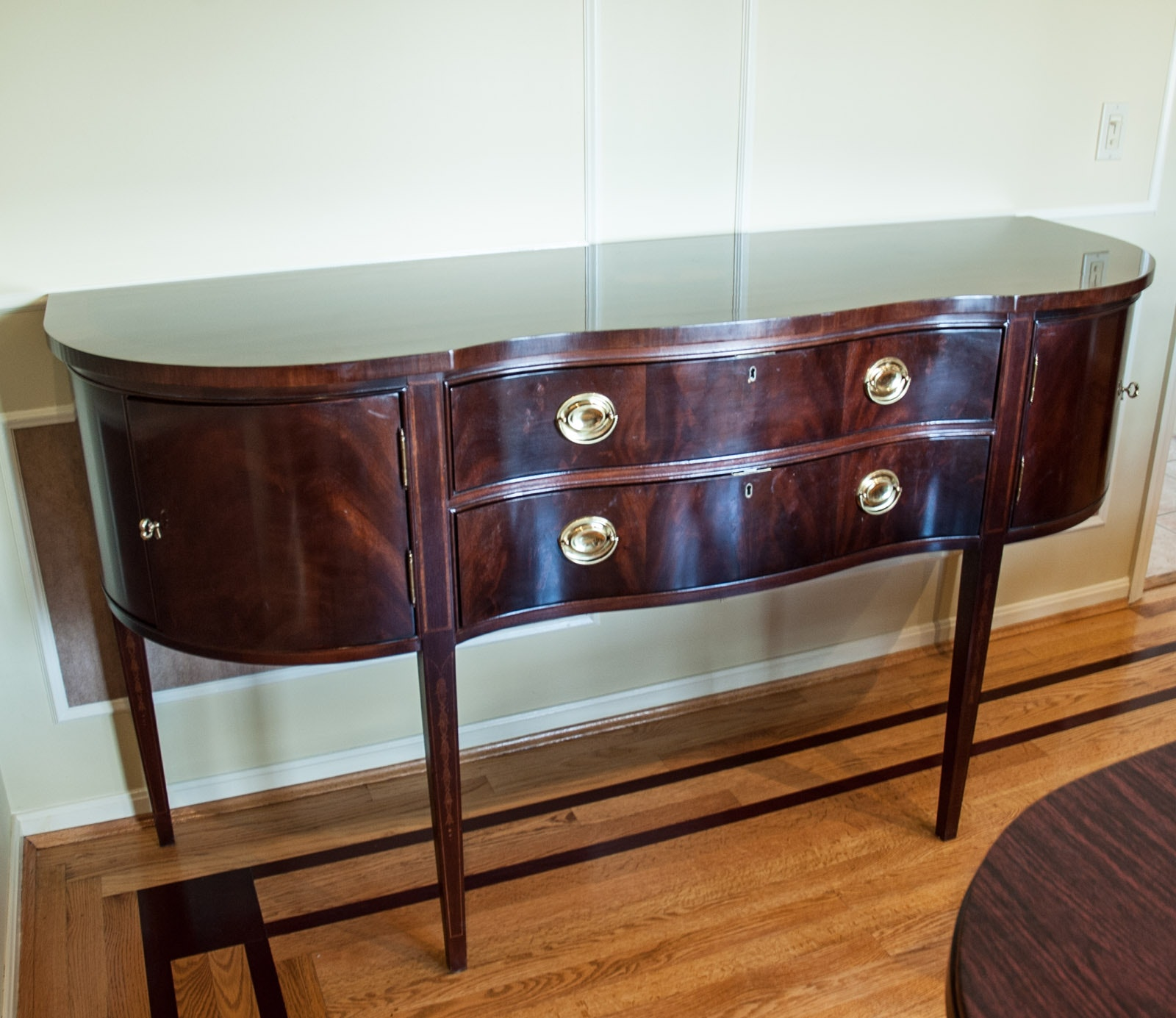Federal Style Mahogany Sideboard by Bernhardt Furniture Company