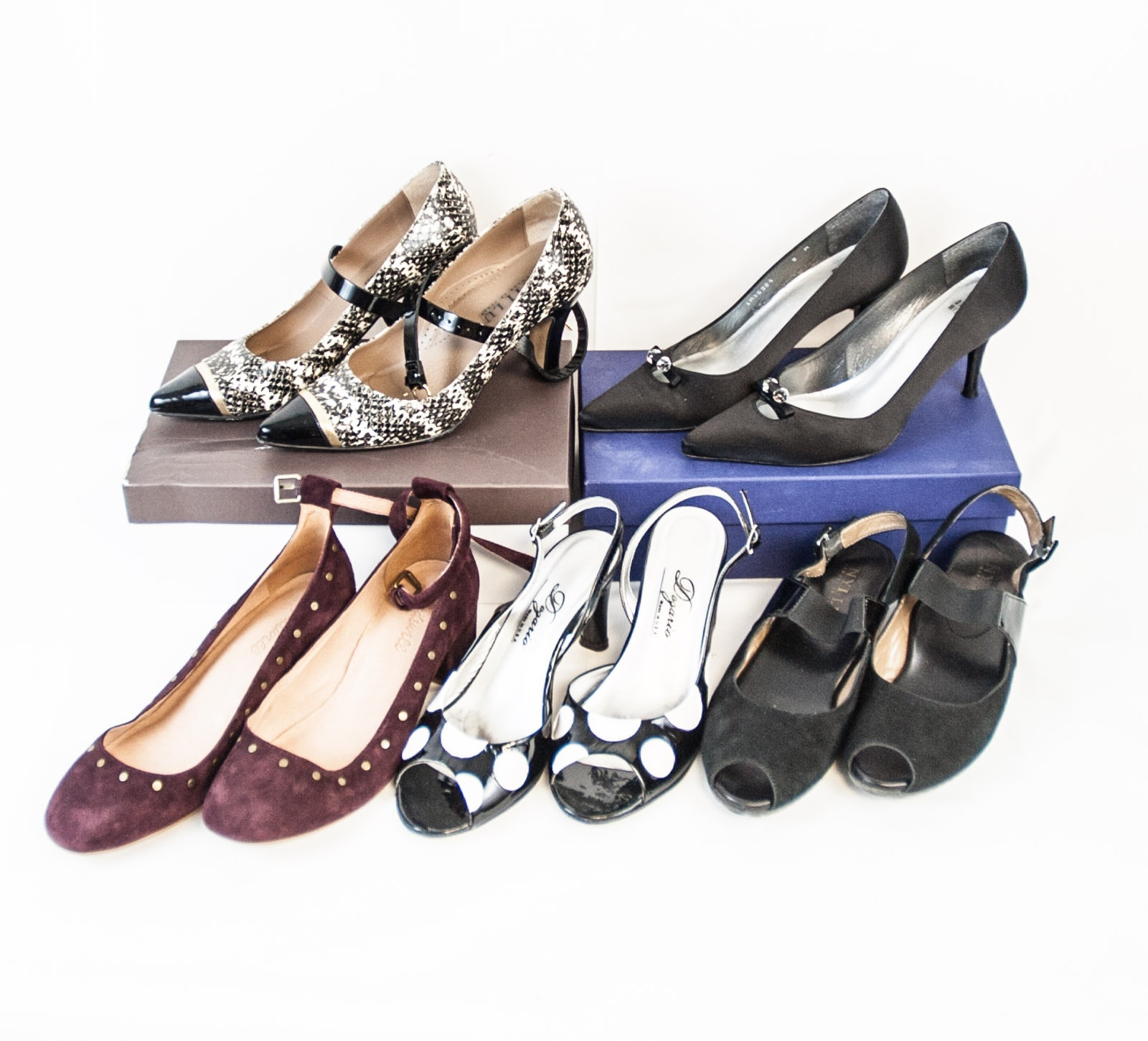 Assortment of Women's Heels Including Anyi Lu