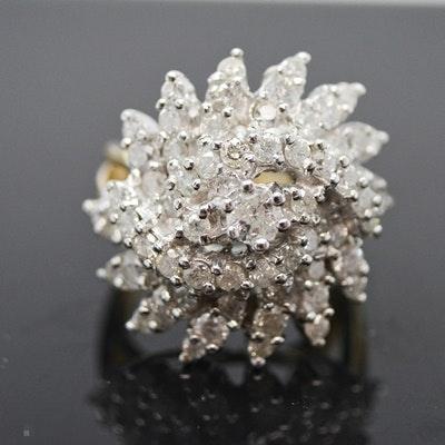 14K Yellow and White Gold 2.00 CTW Diamond Ring