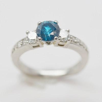 Platinum 1.68 CTW Diamond Ring