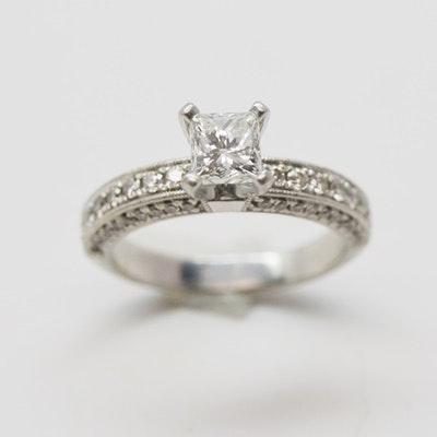 Platinum 1.21 CTW Diamond Engagement Ring