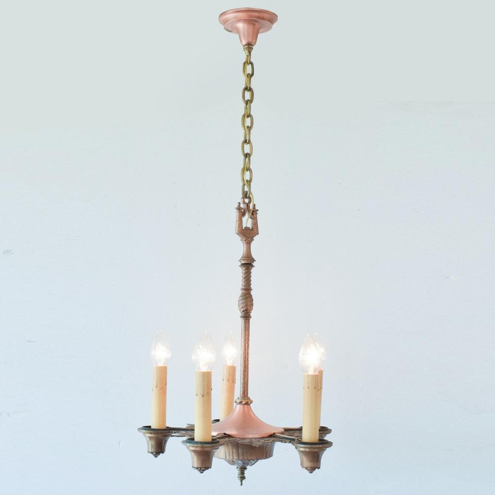 Vintage Ornate Candlestick Chandelier