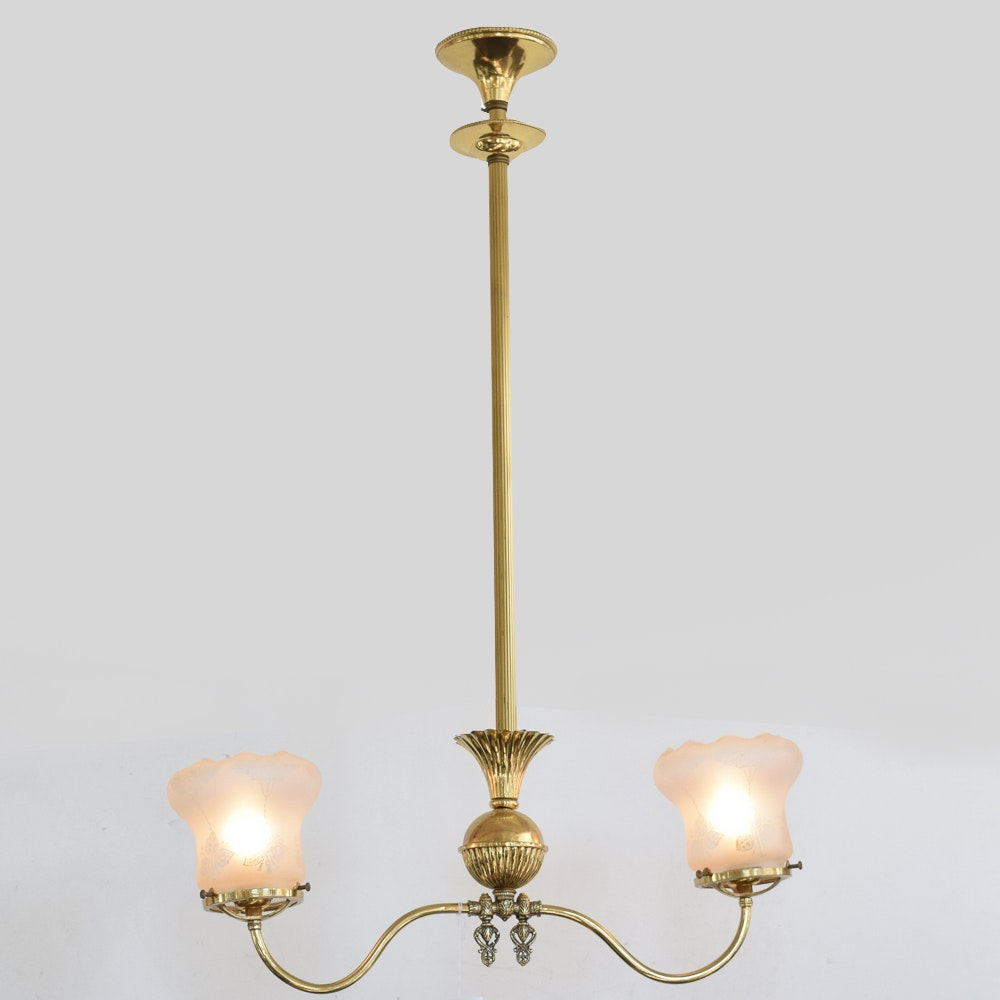 Antique Converted Pendant Ceiling Light
