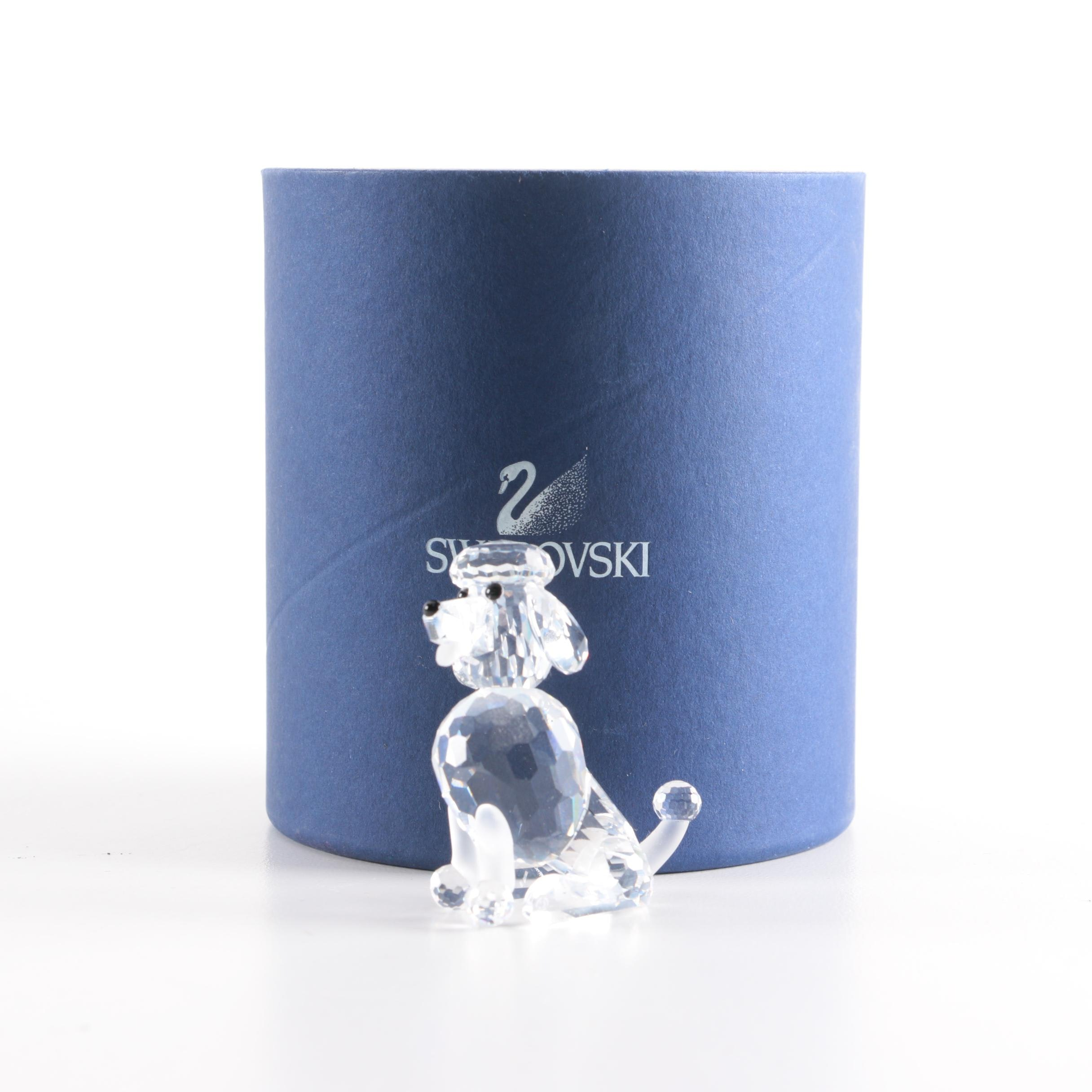 "2004 Swarovski Crystal ""Poodle Sitting"" Figurine"