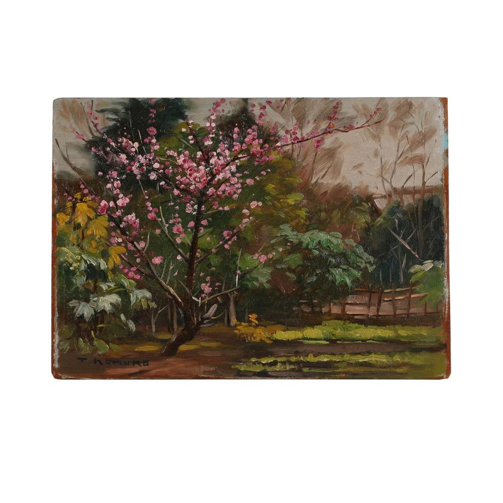 T. Komuro Oil Painting