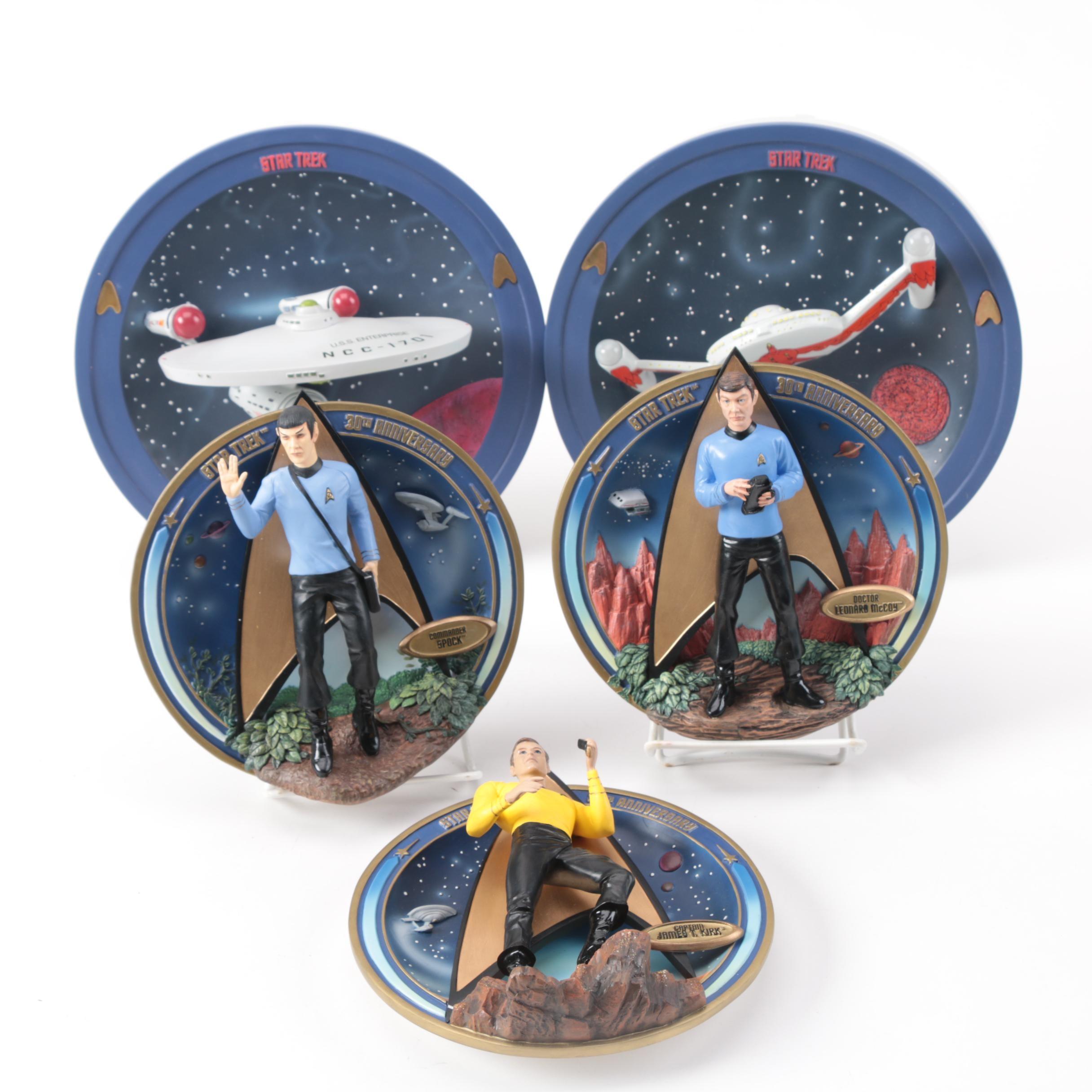 "Bradford Exchange ""Star Trek"" Collectors Plates"