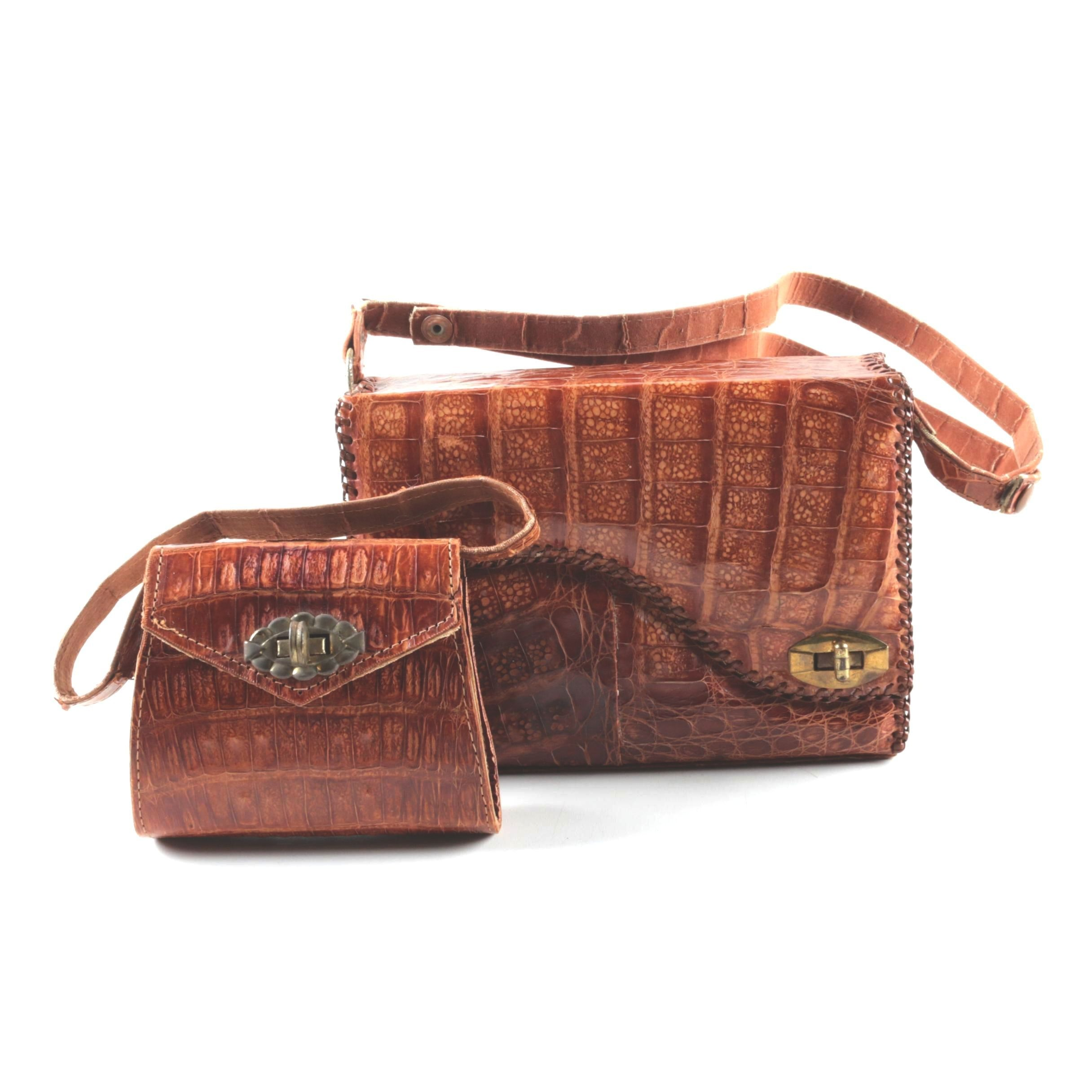 Vintage Alligator Skin Handbags