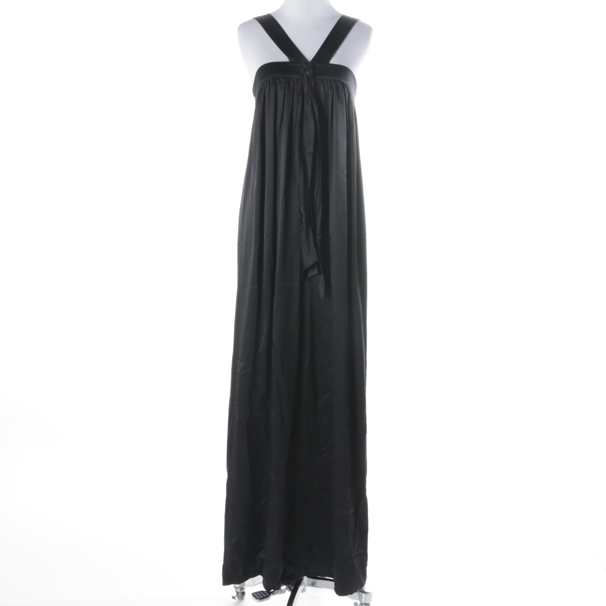 Katy Rodriguez Sleeveless Satin Maxi Dress