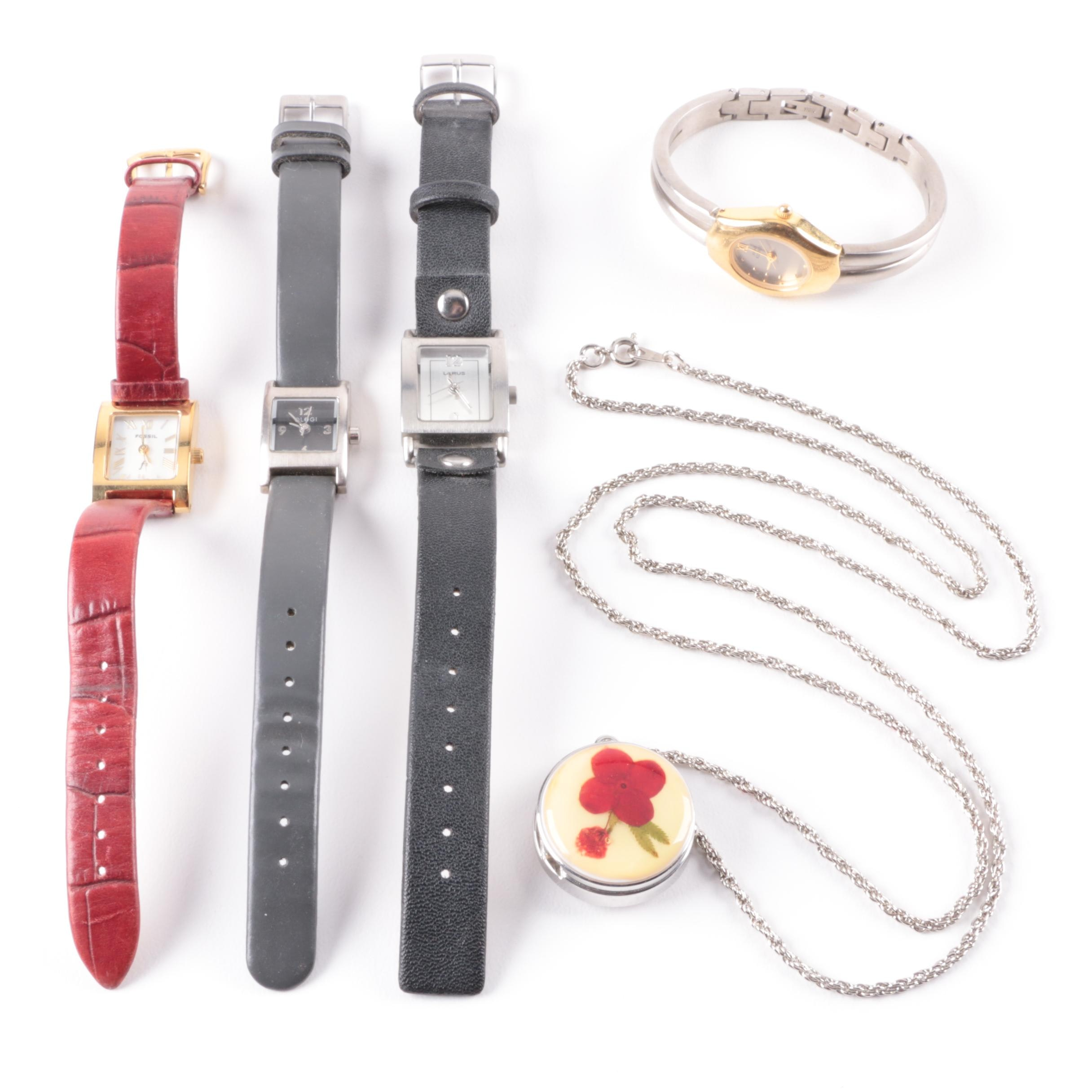Selection of Wristwatches and Necklace Watch