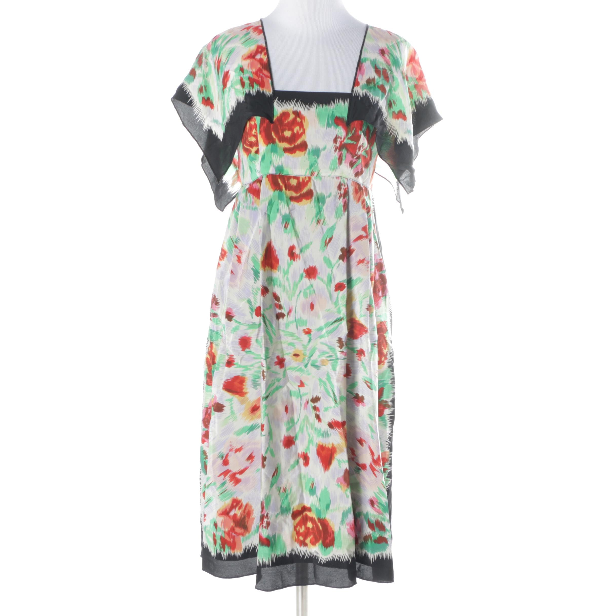Anna Sui Floral Silk Dress
