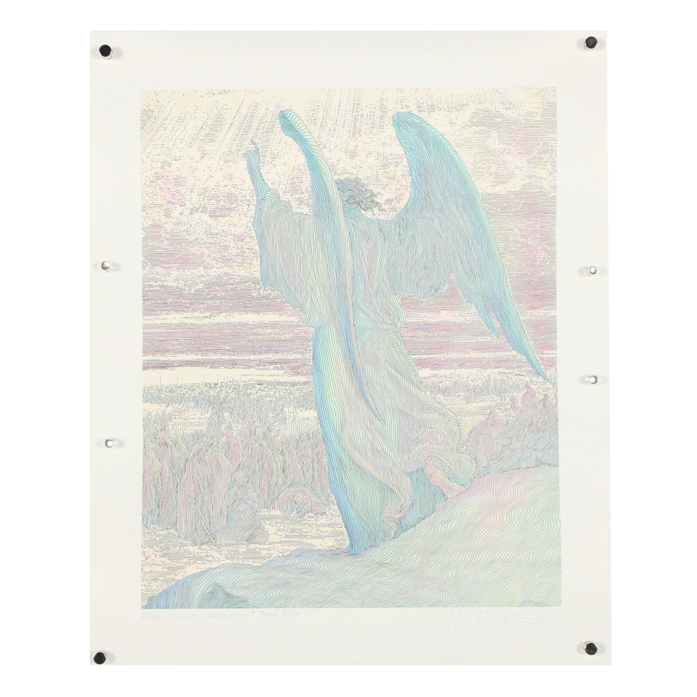 """Guillaume Azoulay Limited Edition Giclee """"Joshua's Encounter"""""""