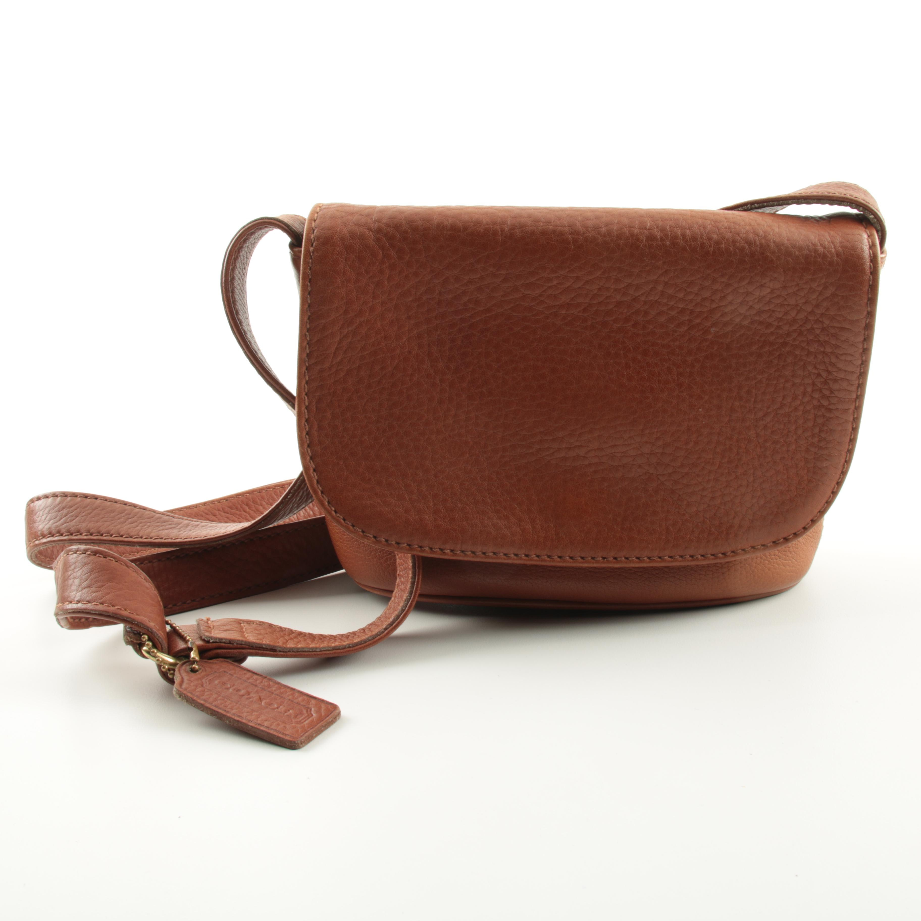 Coach Sonoma Flap Pebbled Leather Handbag