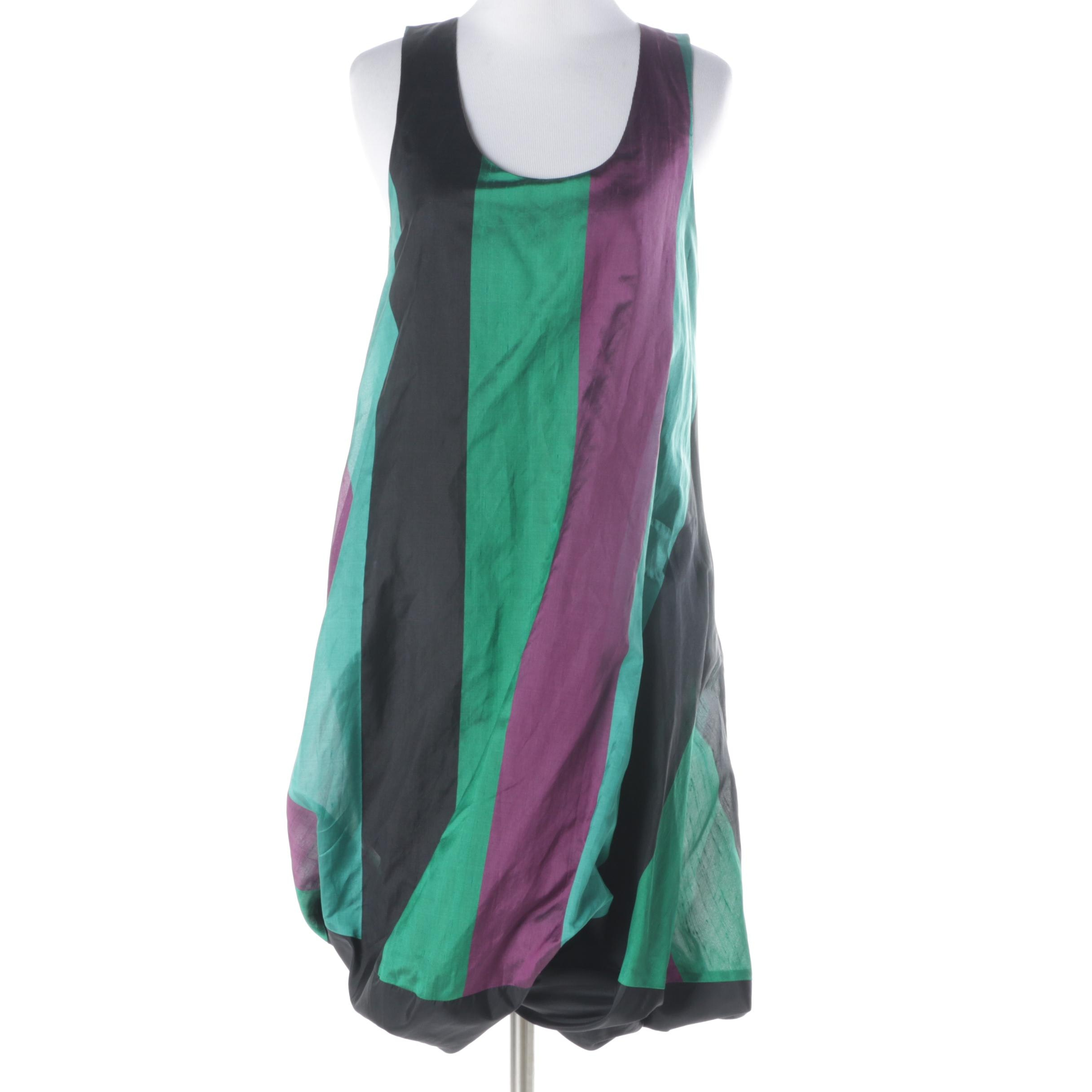 Katy Rodgriguez Green and Black Bubble Dress