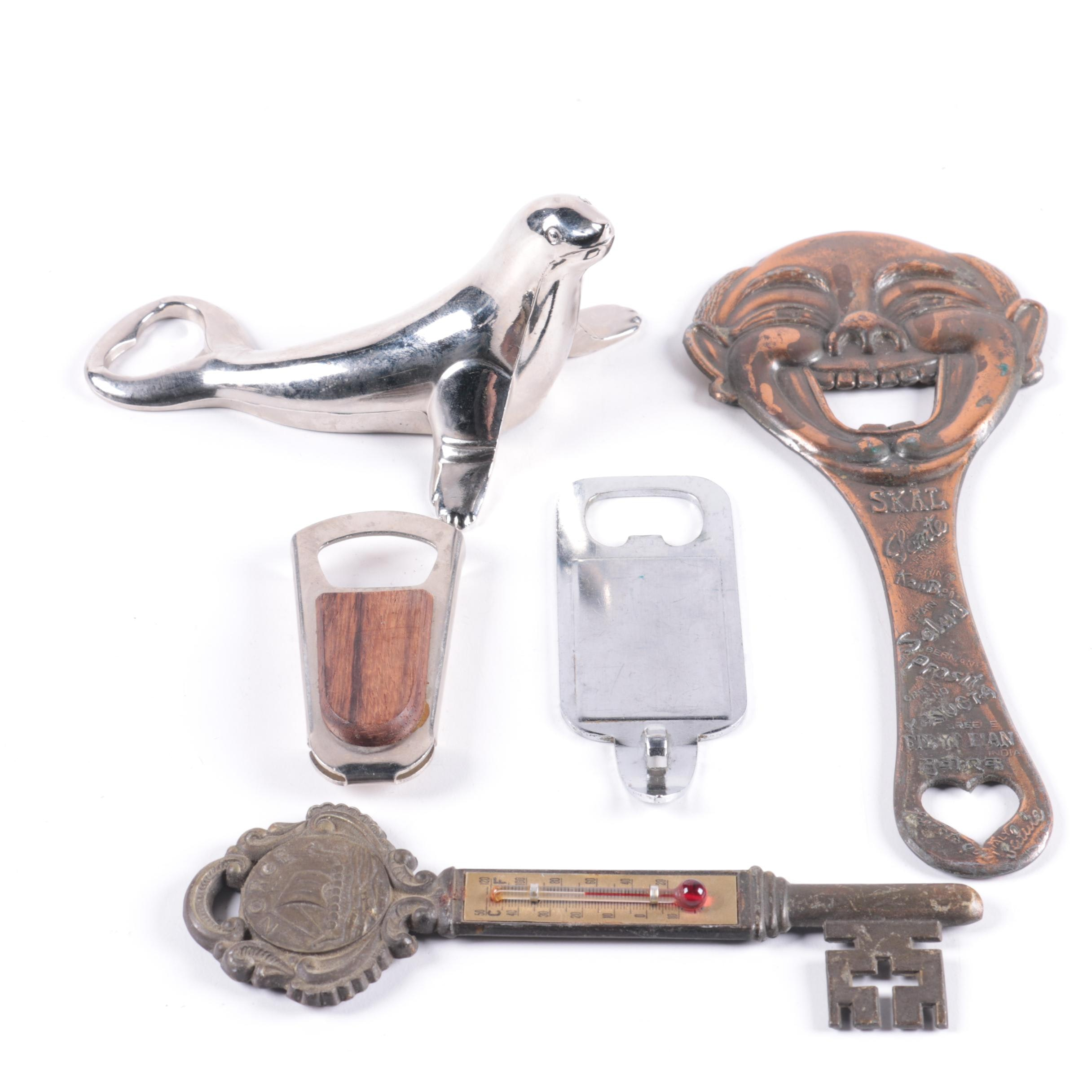 Bottle Openers and Thermometer