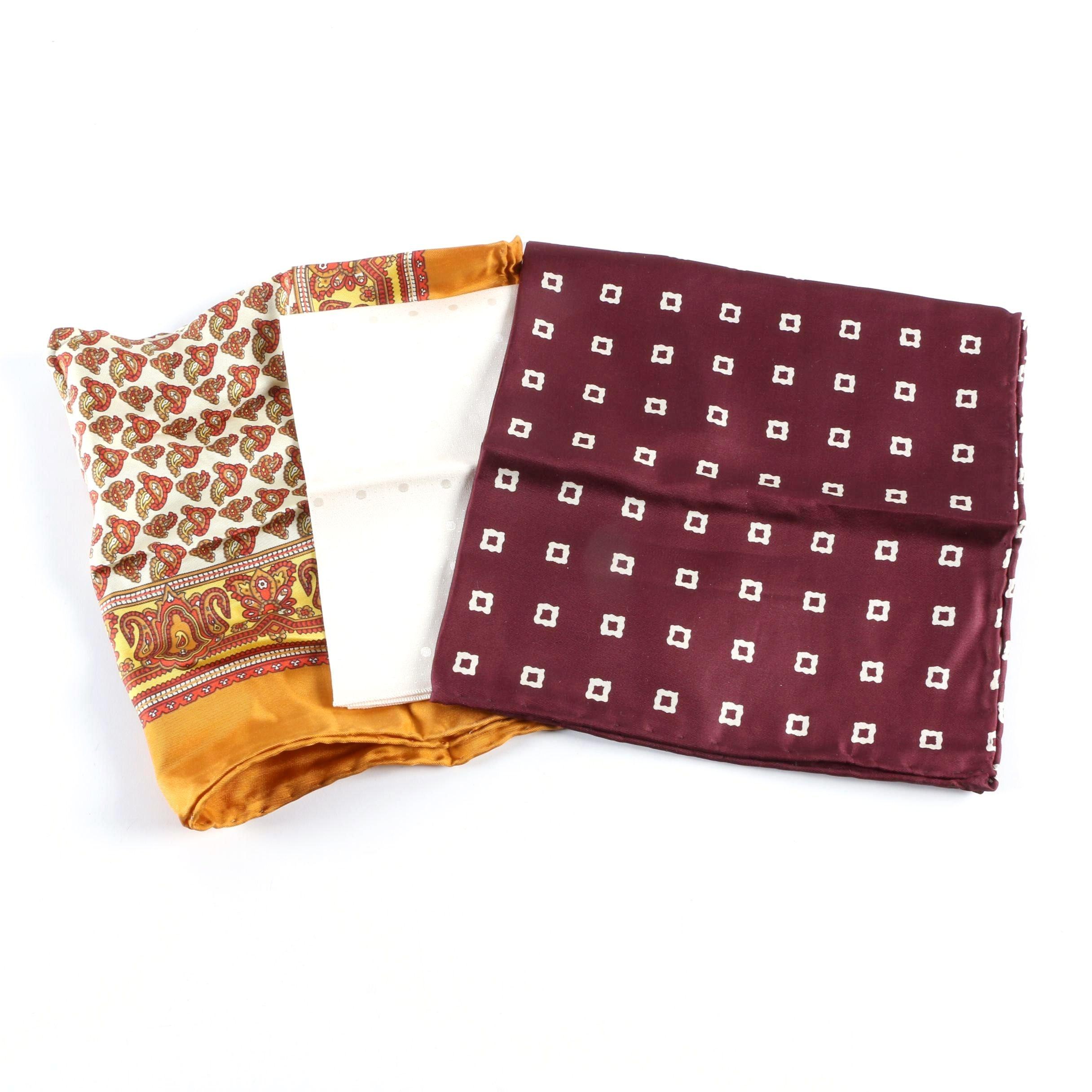 Vintage Italian Silk Pocket Squares