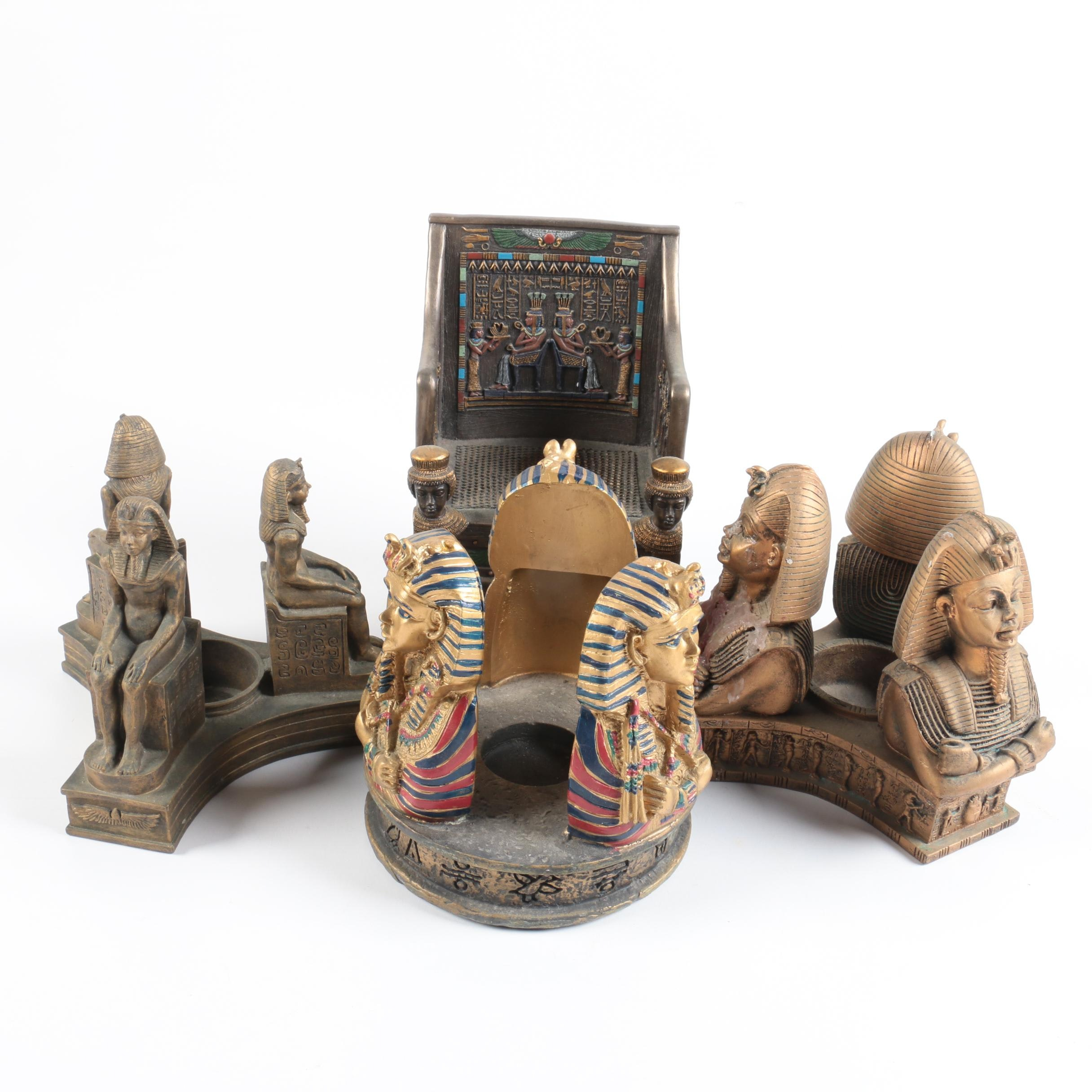 Egyptian Themed Candle Holders and Decor