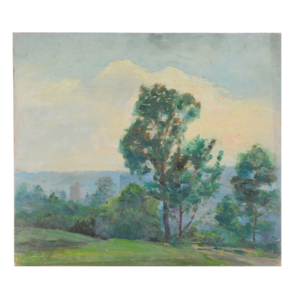 Dora McCollister Original Oil Painting of a Landscape