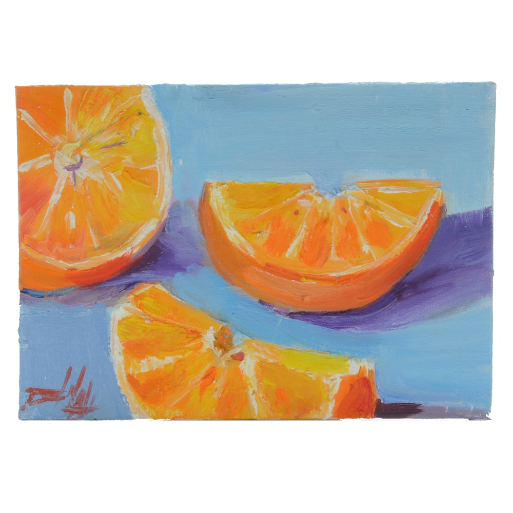 "Delilah Smith Oil Painting ""Orange No. 2"""