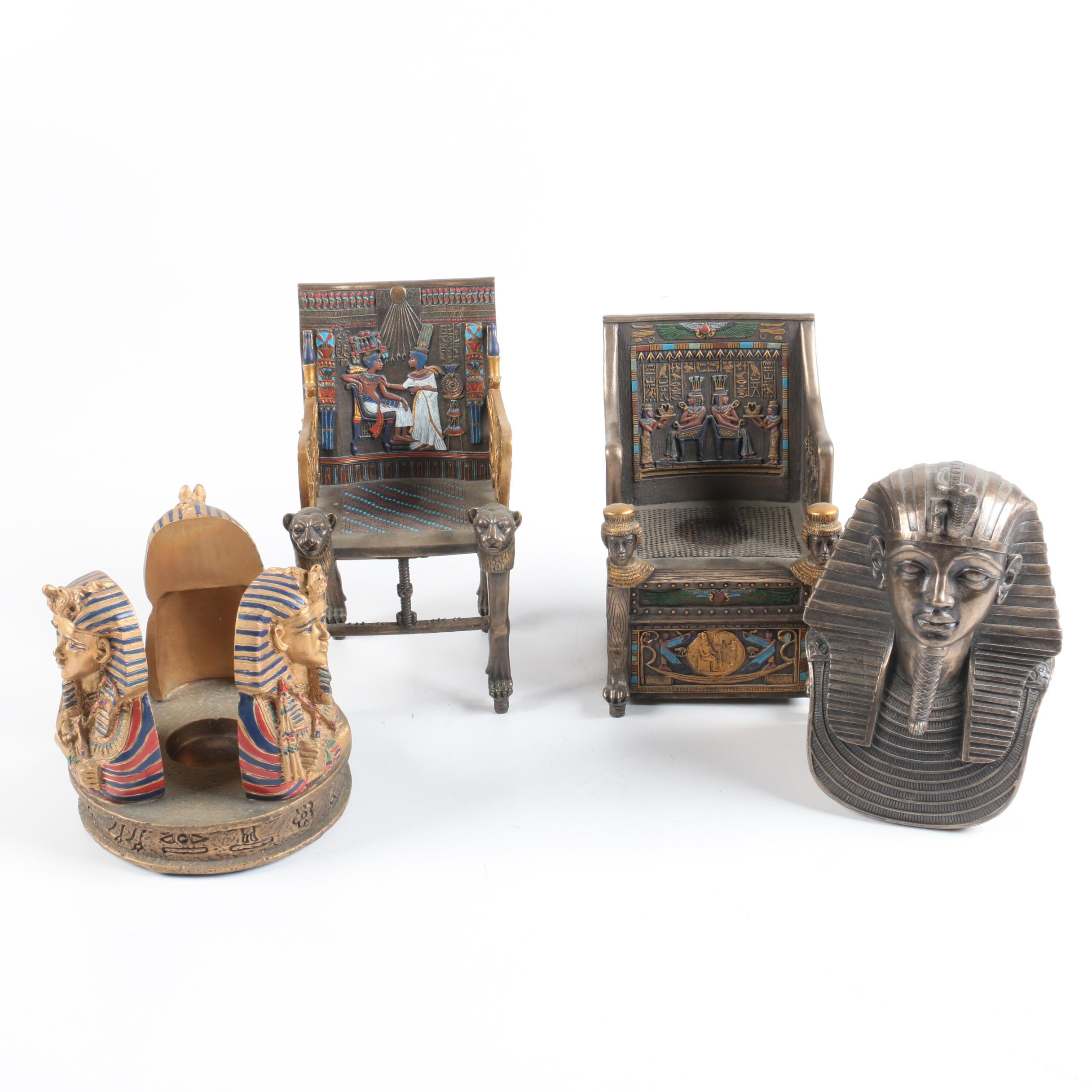 Egyptian Themed Candle Holder and Decor