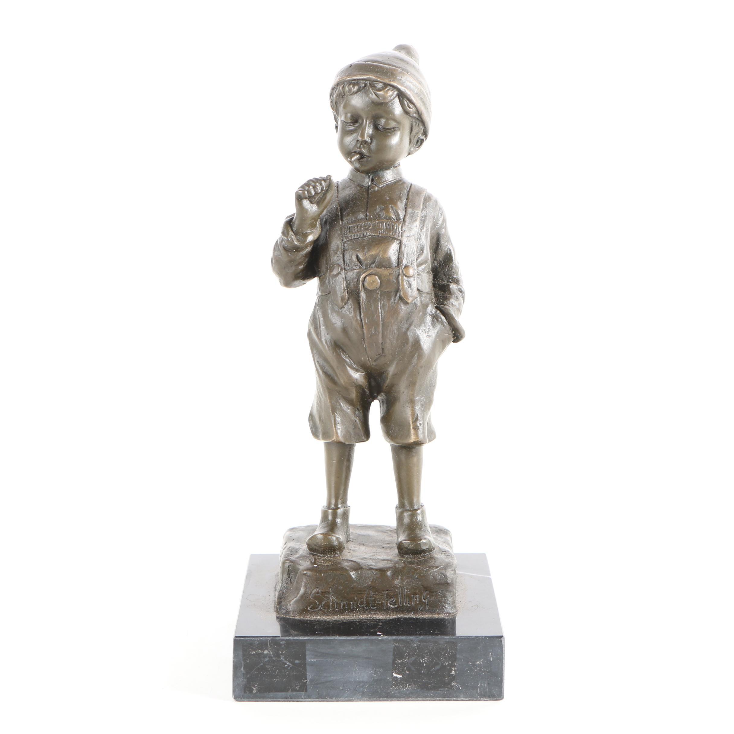 Schmidt-Felling Brass Sculpture of Boy