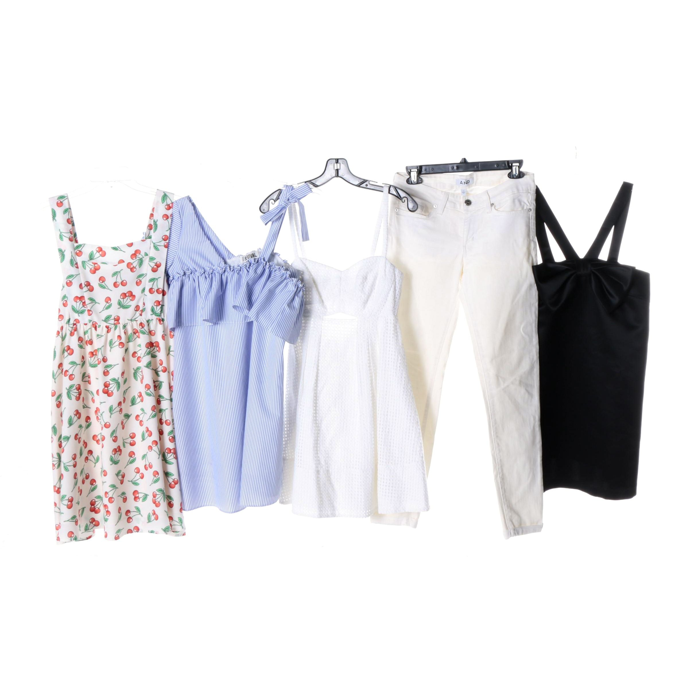 Collection of Women's Dresses and Jeans
