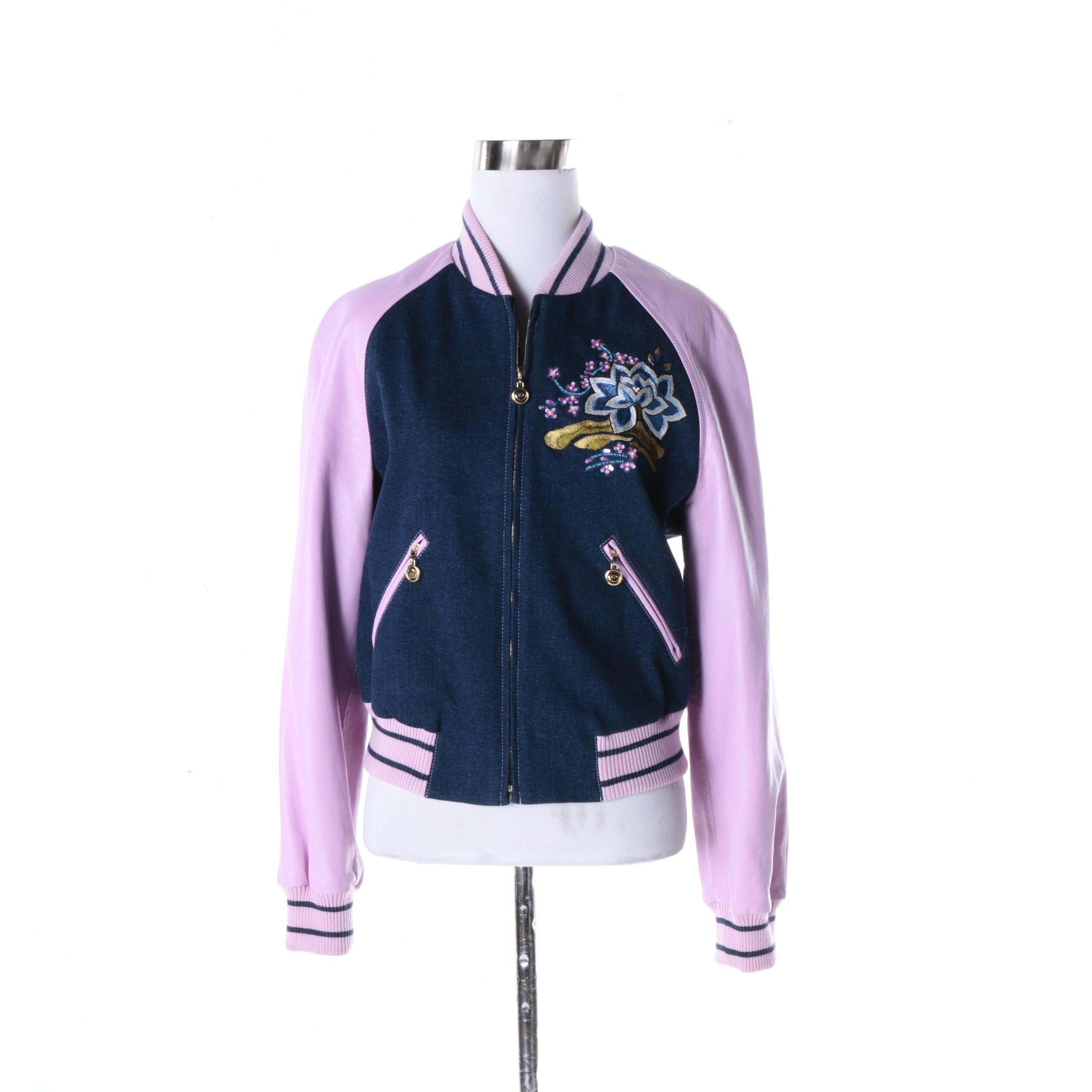 Women's Escada Sukajan Style Jacket with Beaded Embellishments