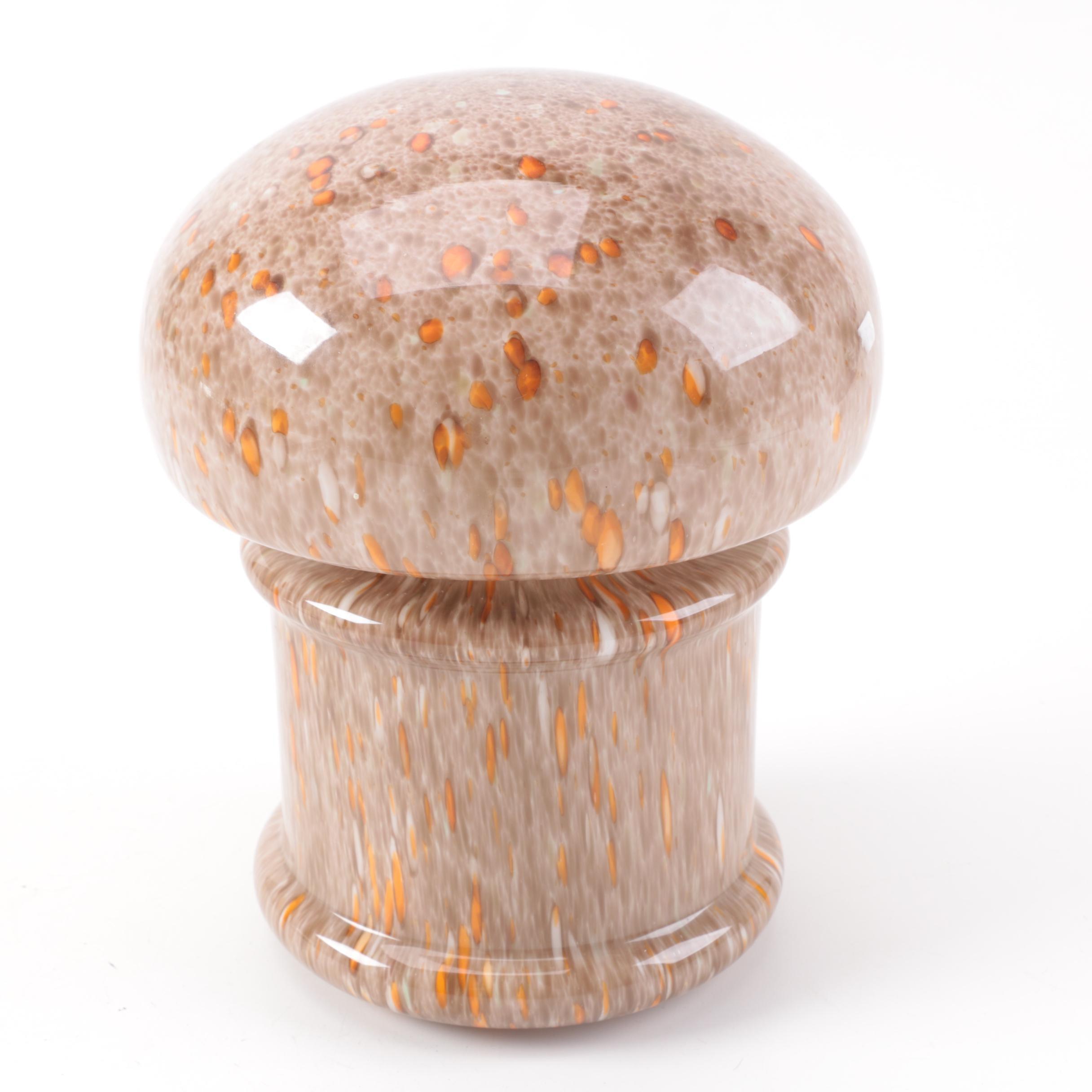 Mid Century Modern Art Glass Mushroom Table Lamp