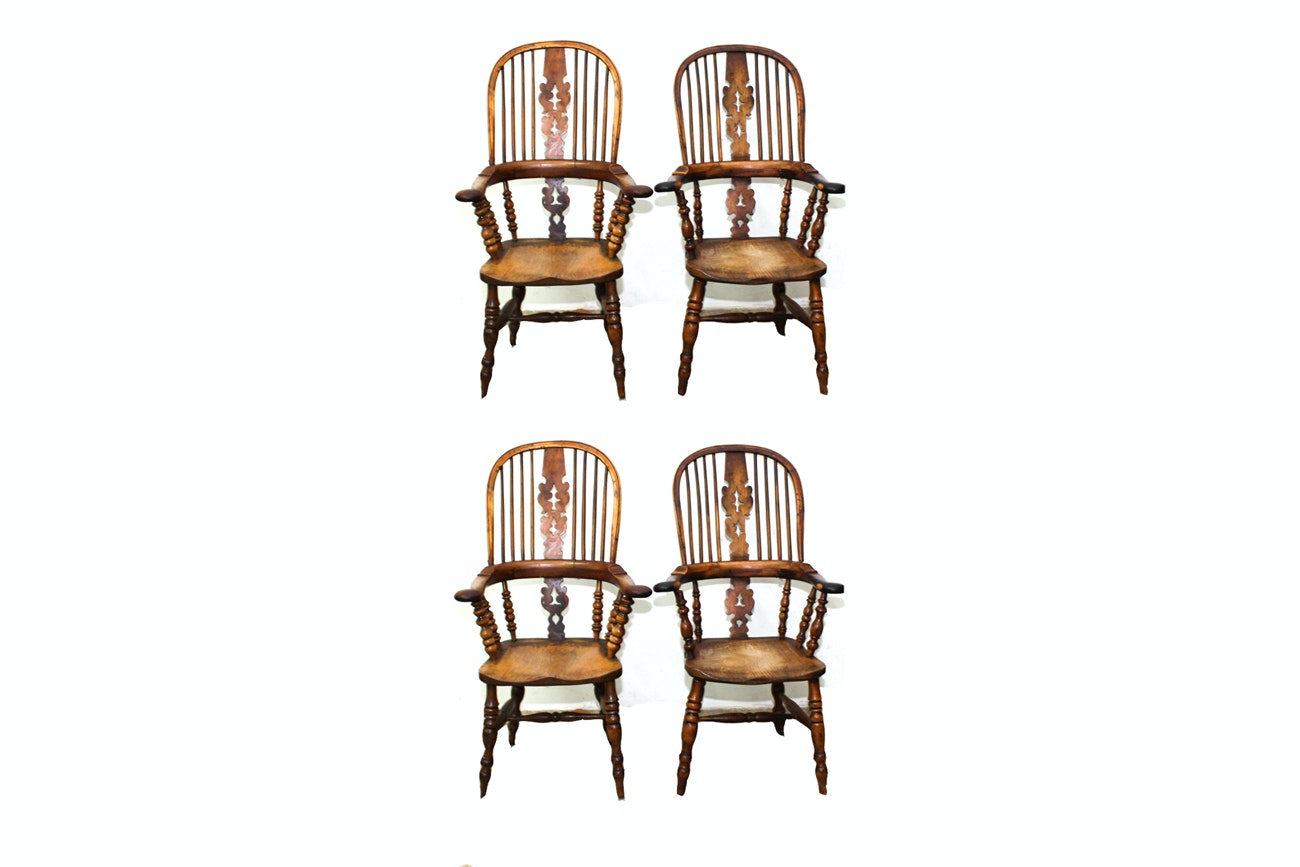 Antique English Windsor Armchairs