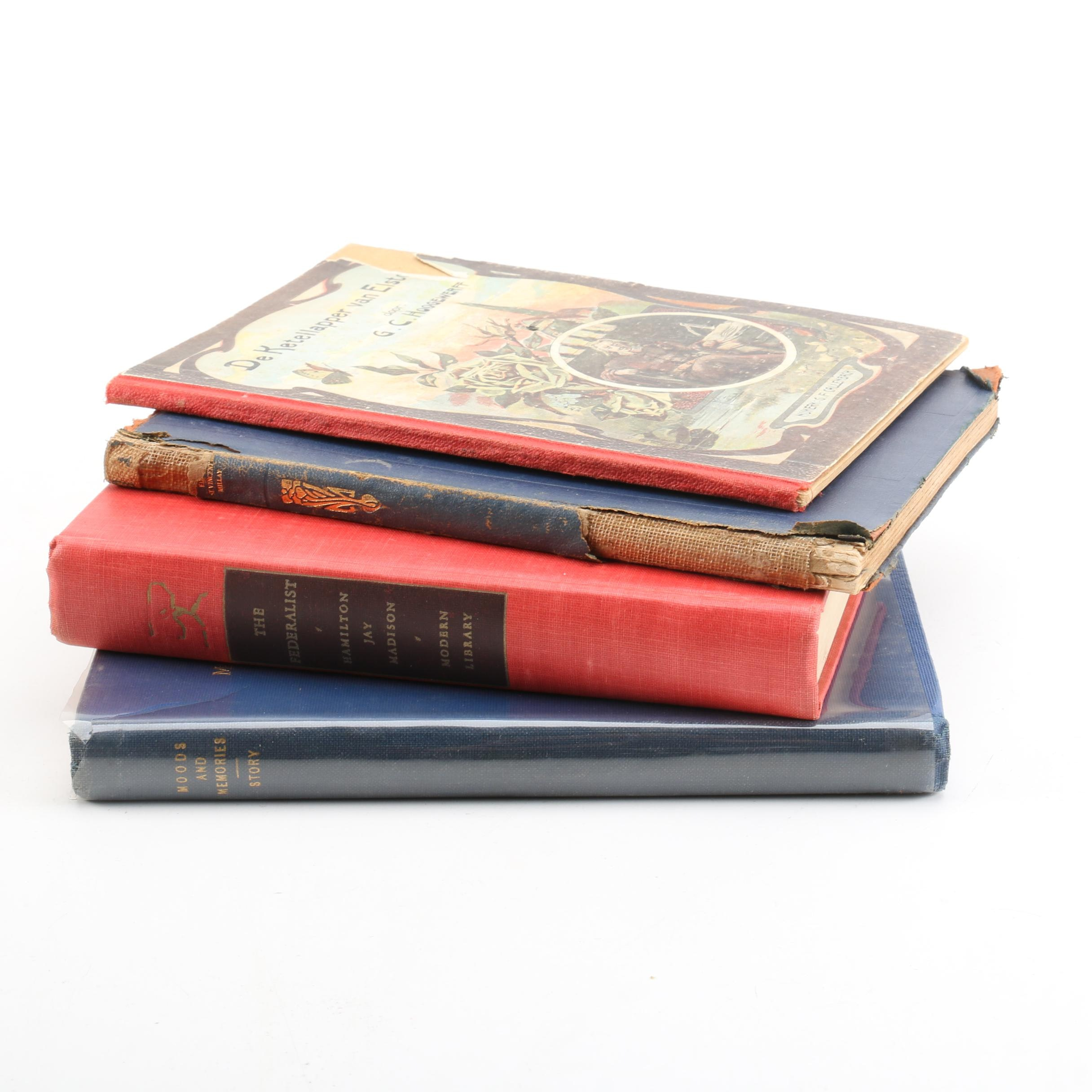 Antique History and Poetry Books