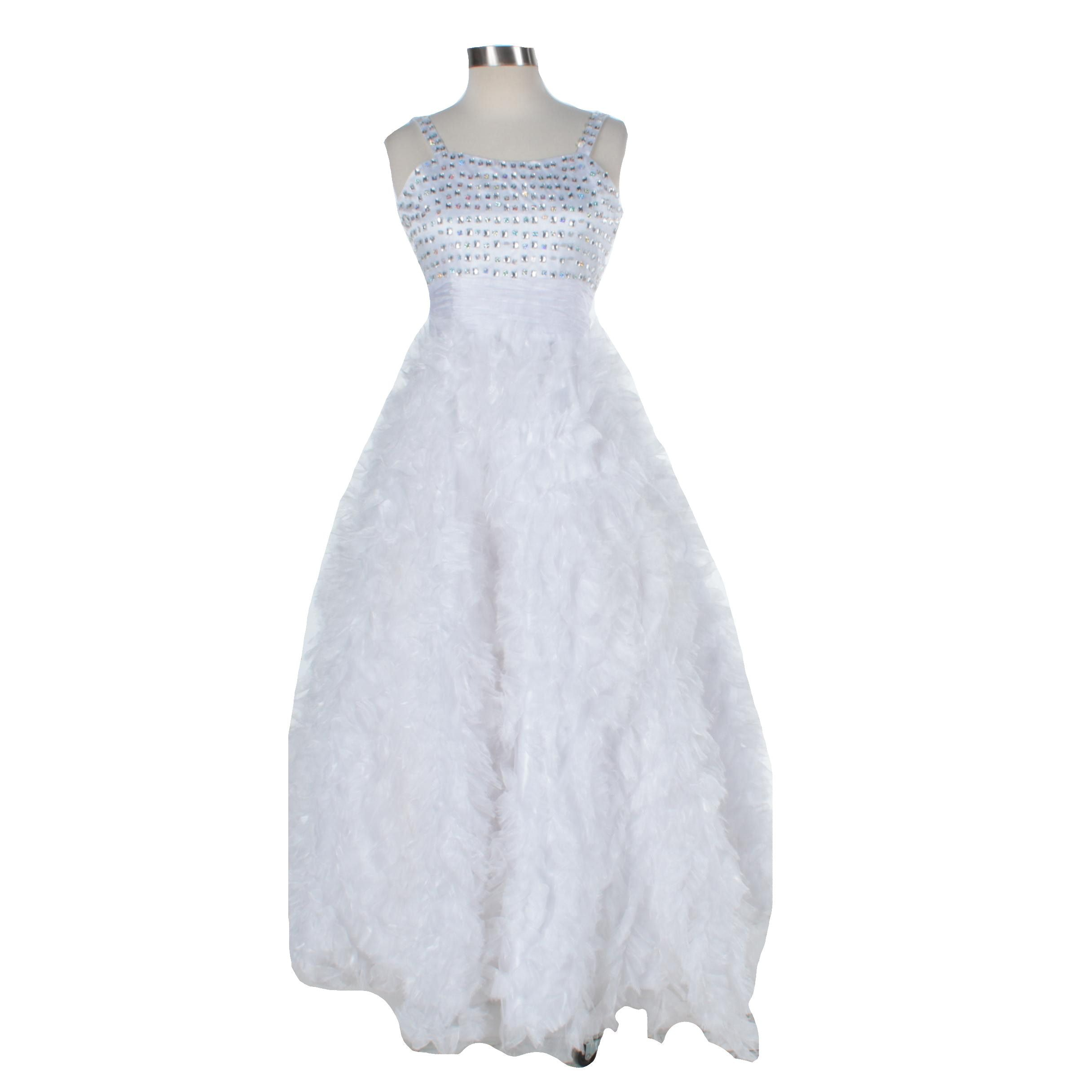 Tiffany Designs House of Wu Sequined Ruffle Gown