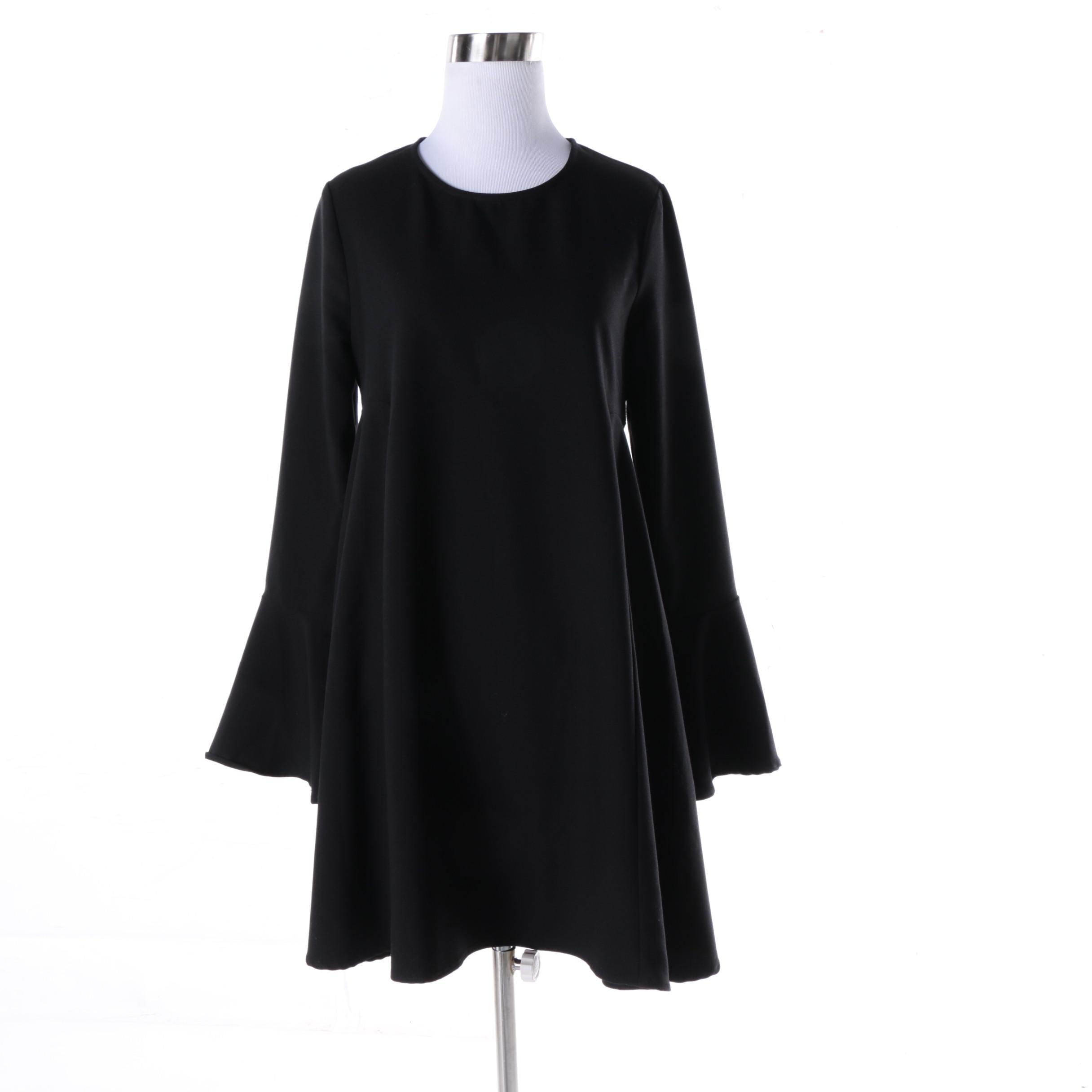 Women's WAYF Black Polyester Blouse