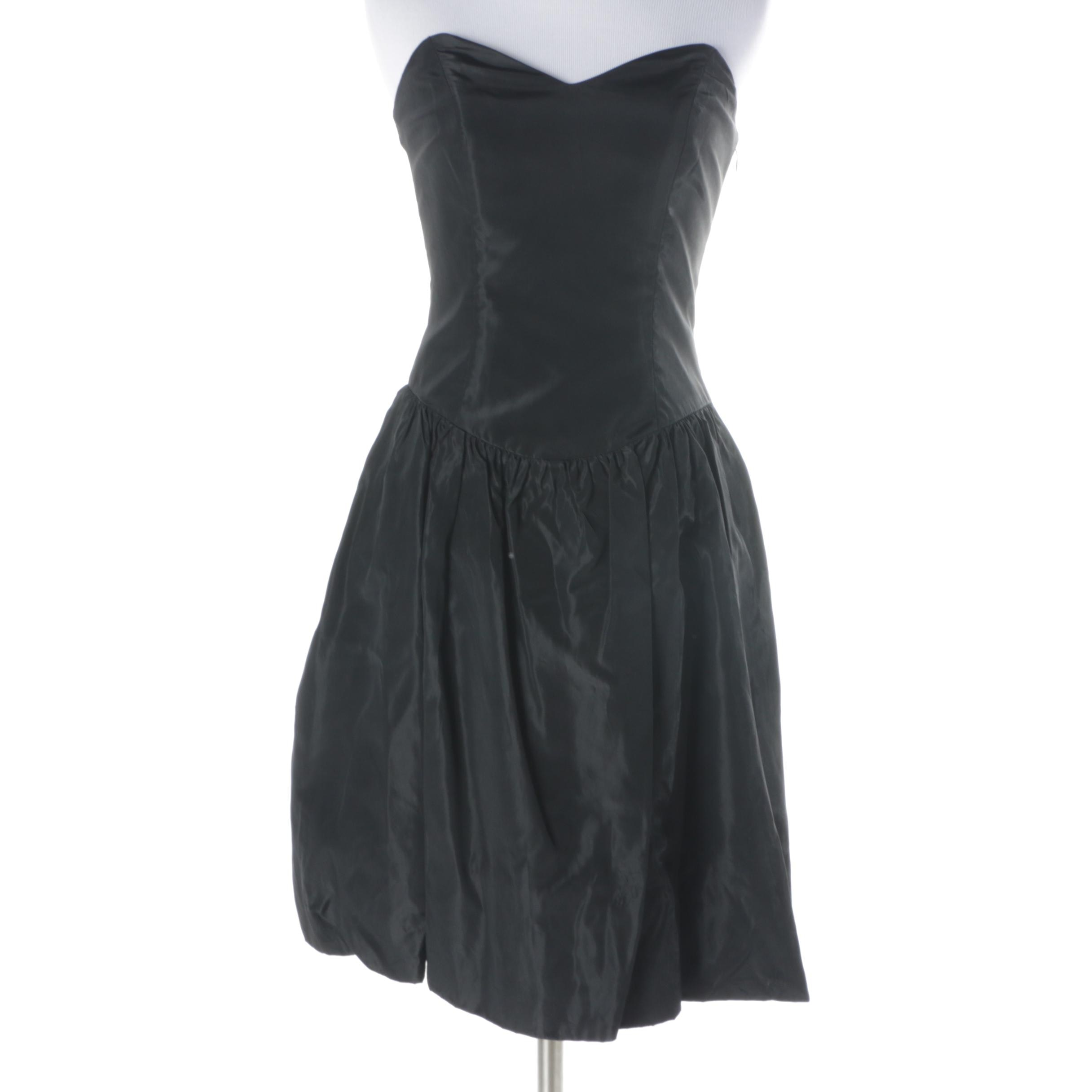 Betsey Johnson Black Strapless Party Dress