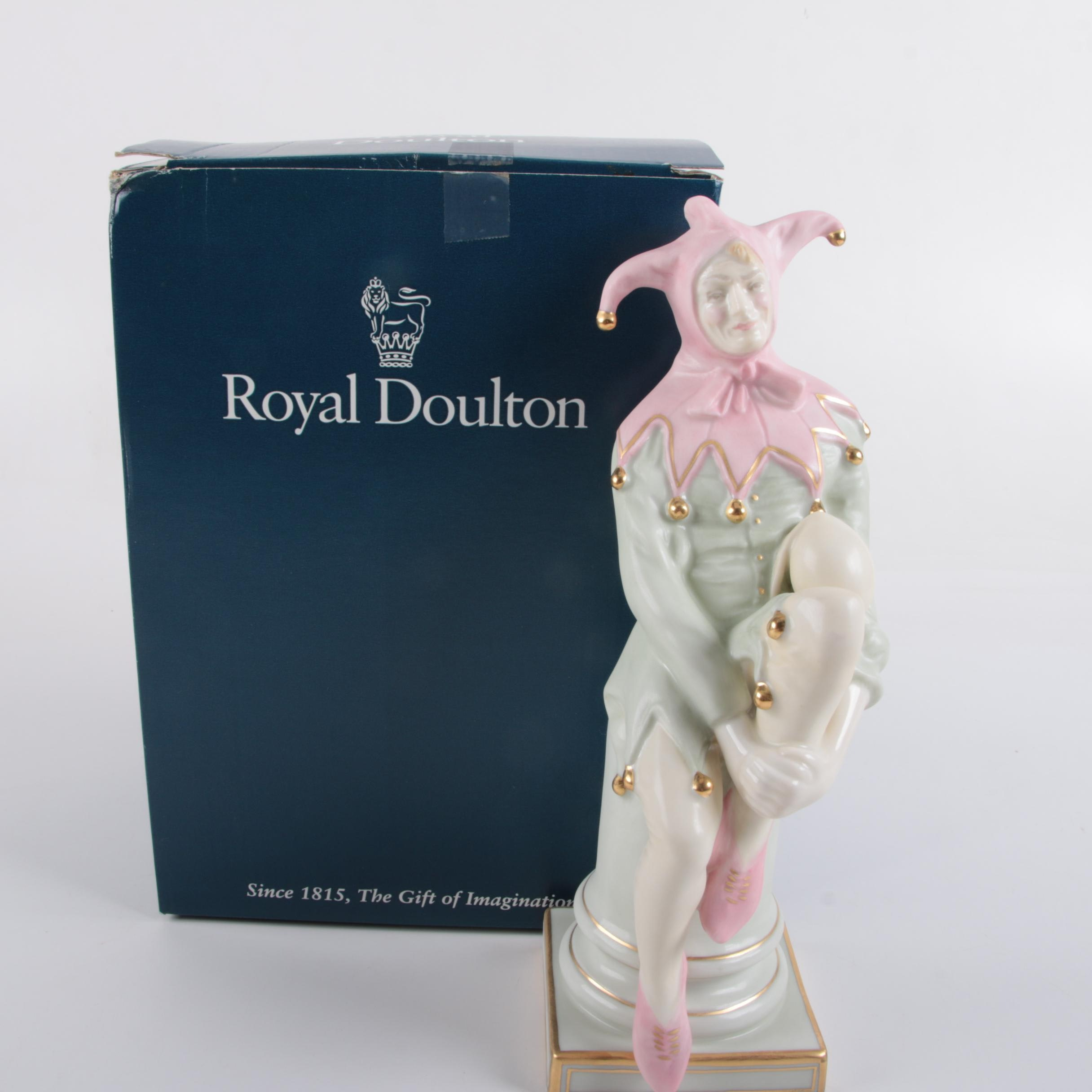 "Royal Doulton Limited Edition ""The Jester"" Porcelain Figurine"