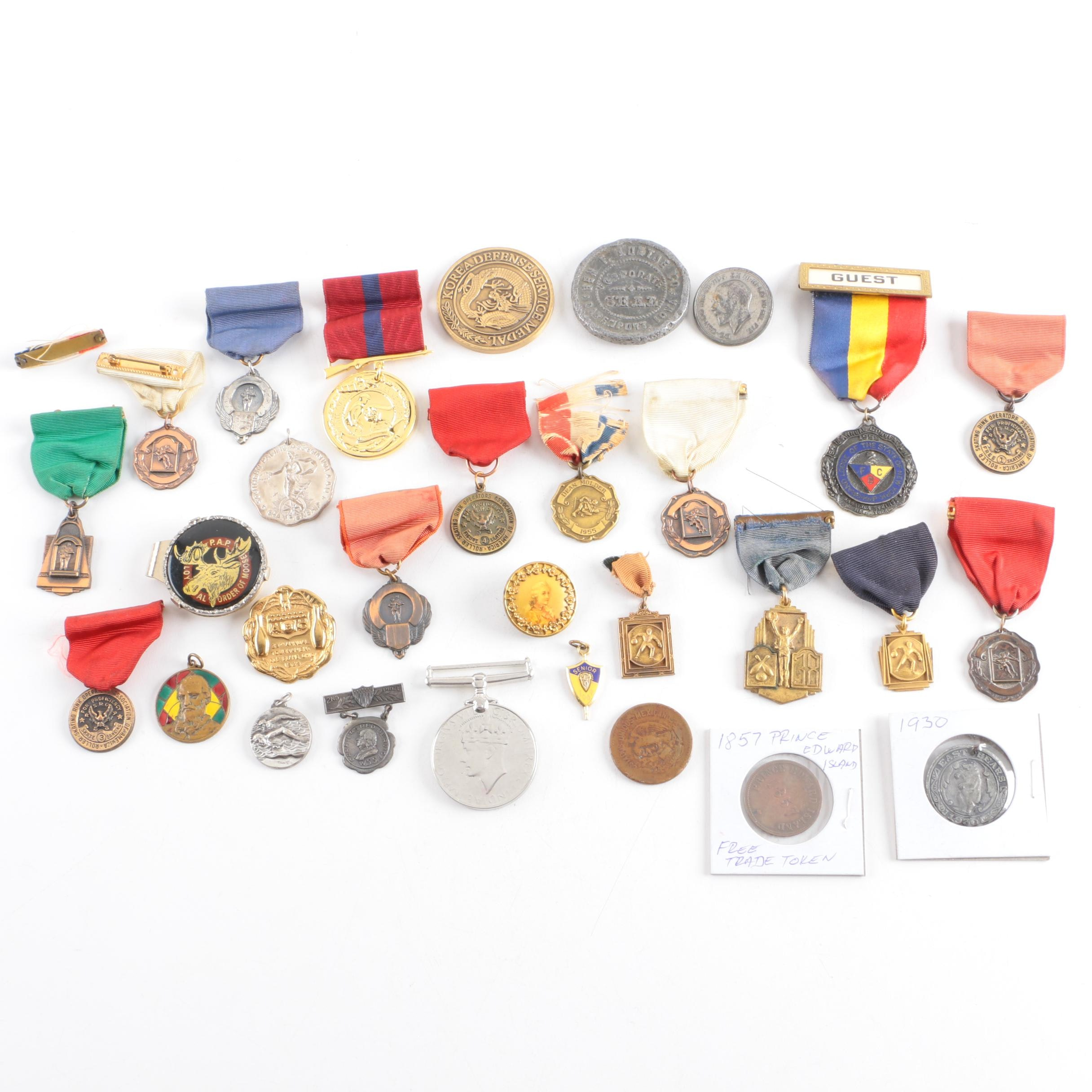 Vintage Medals, Coins, and Pins