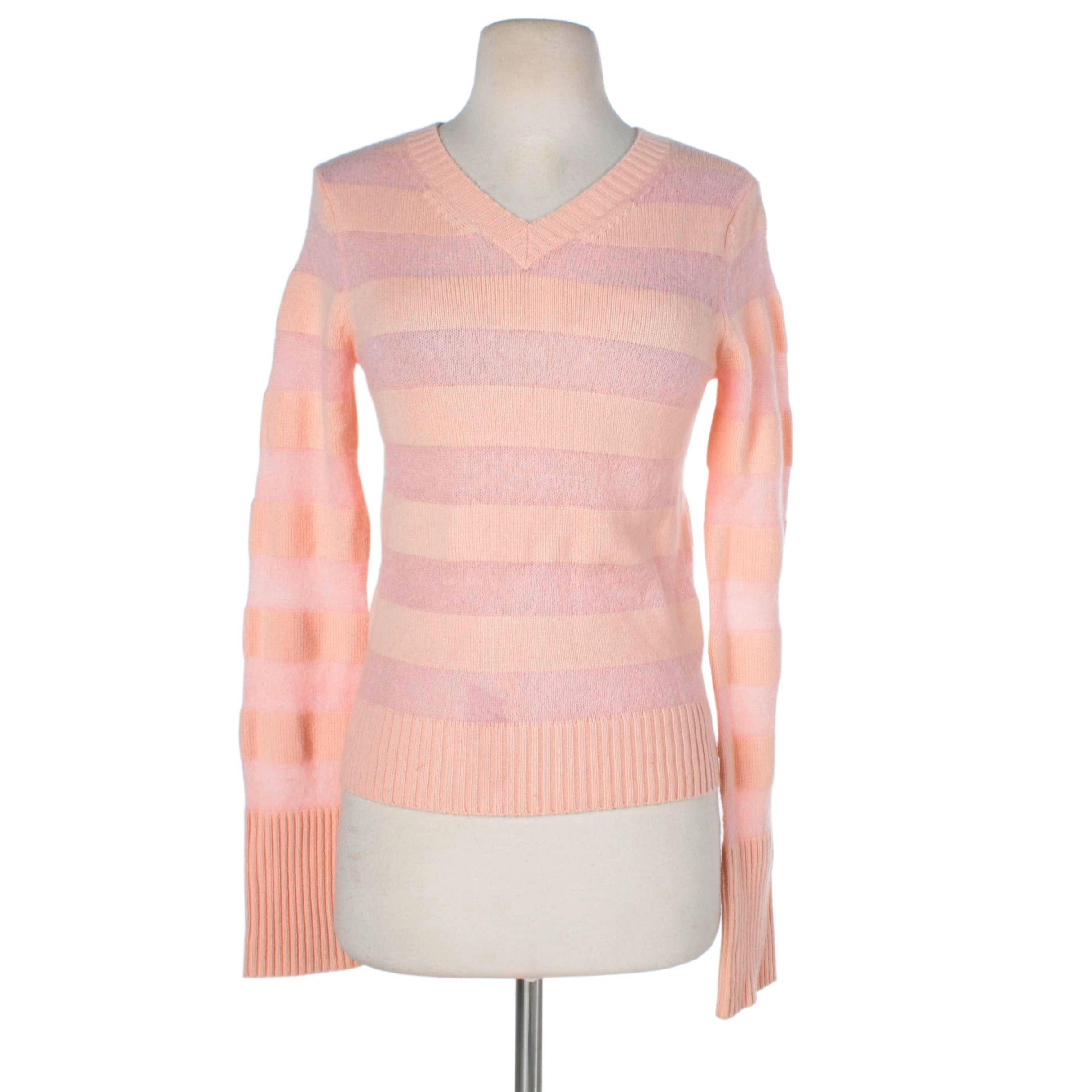 Women's Tsesay Pink Striped Cashmere Sweater
