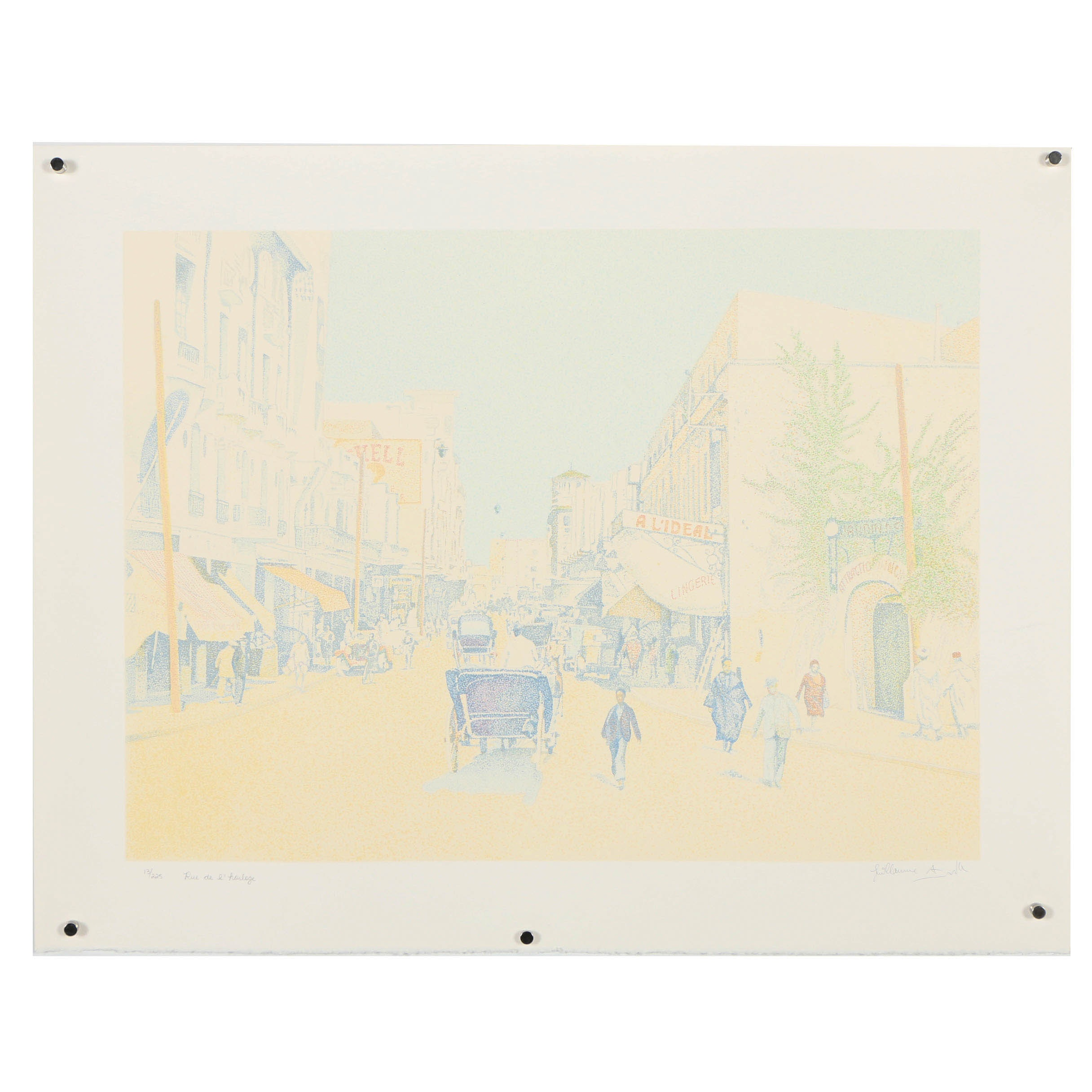 "Guillaume Azoulay Limited Edition Serigraph ""Rue De L'Horlodge"""