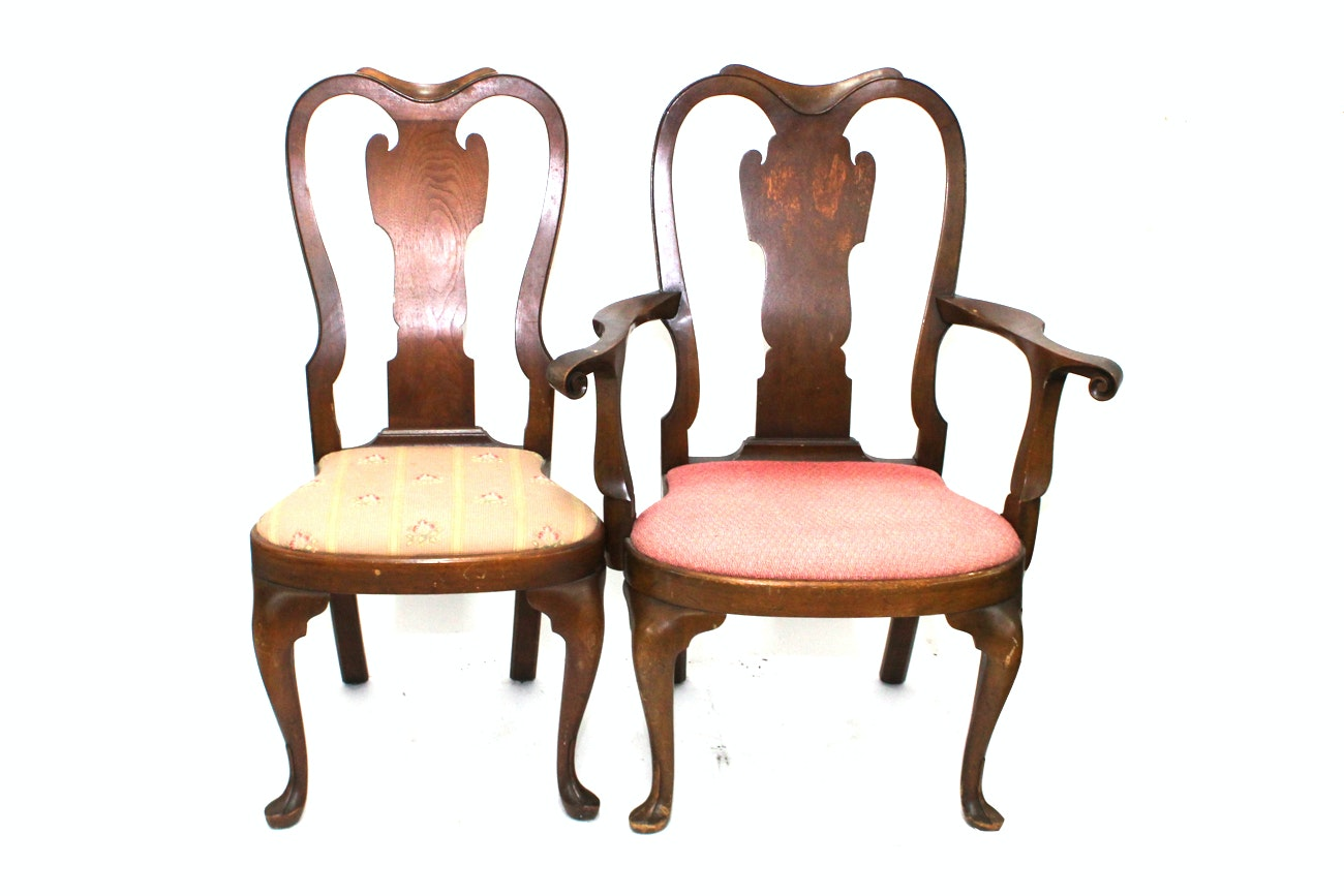 Queen Anne Style Dining Chairs by Saybolt Cleland