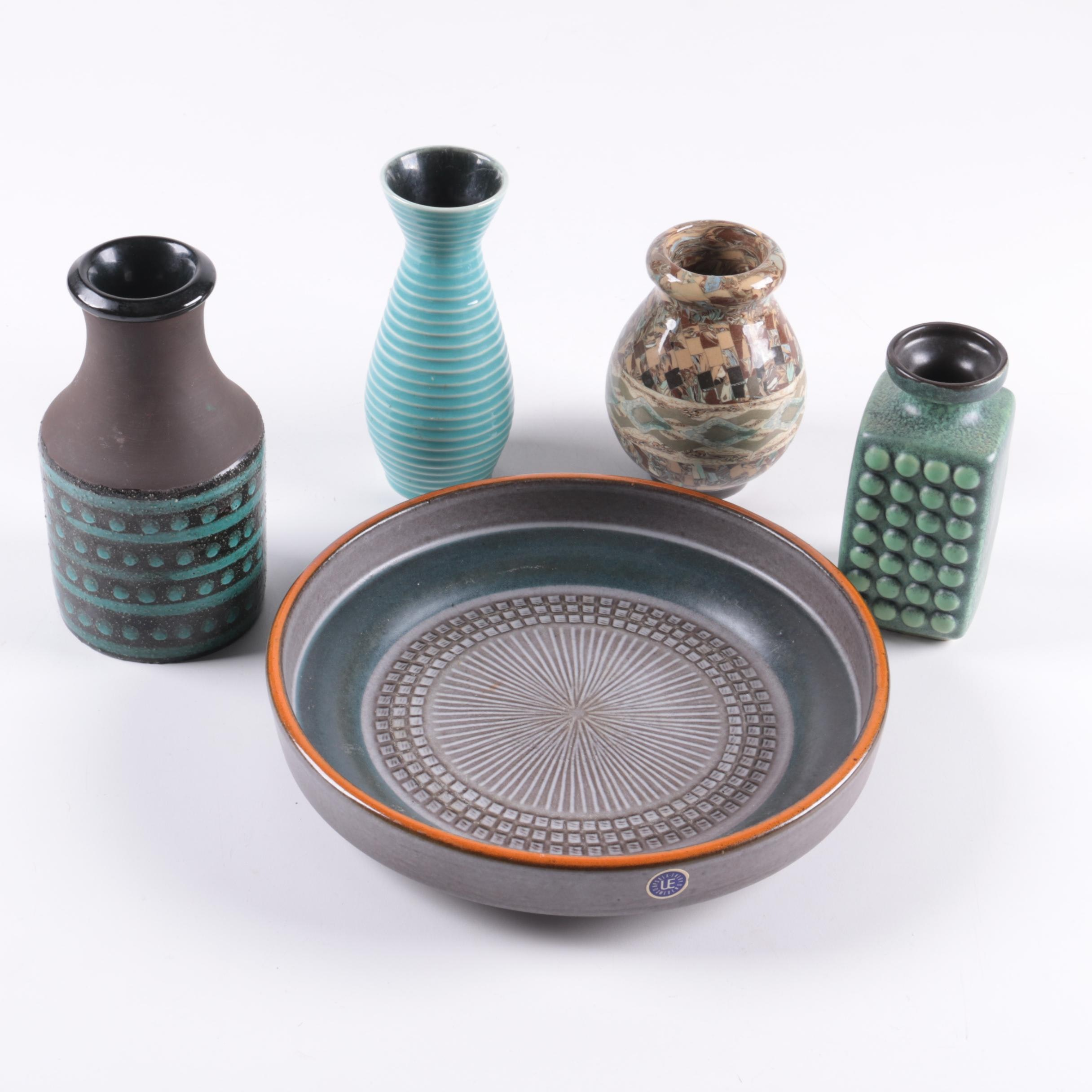 Mid Century Modern Pottery including Jean Girbino and Upsala Ekeby