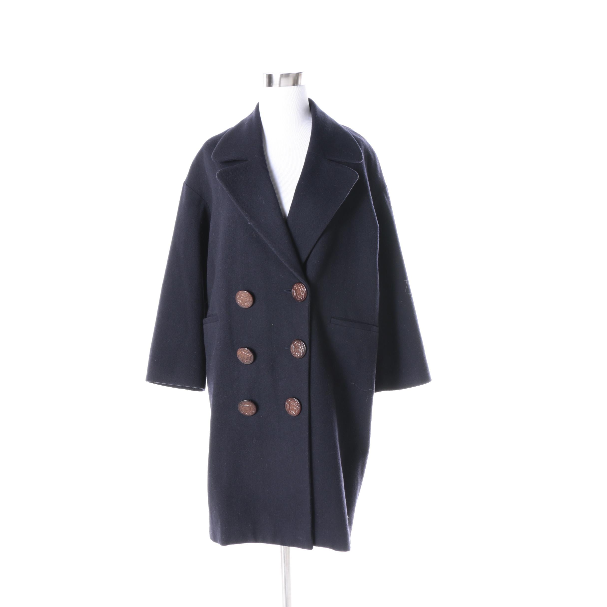 Women's Les Prairies de Paris Wool Blend Coat