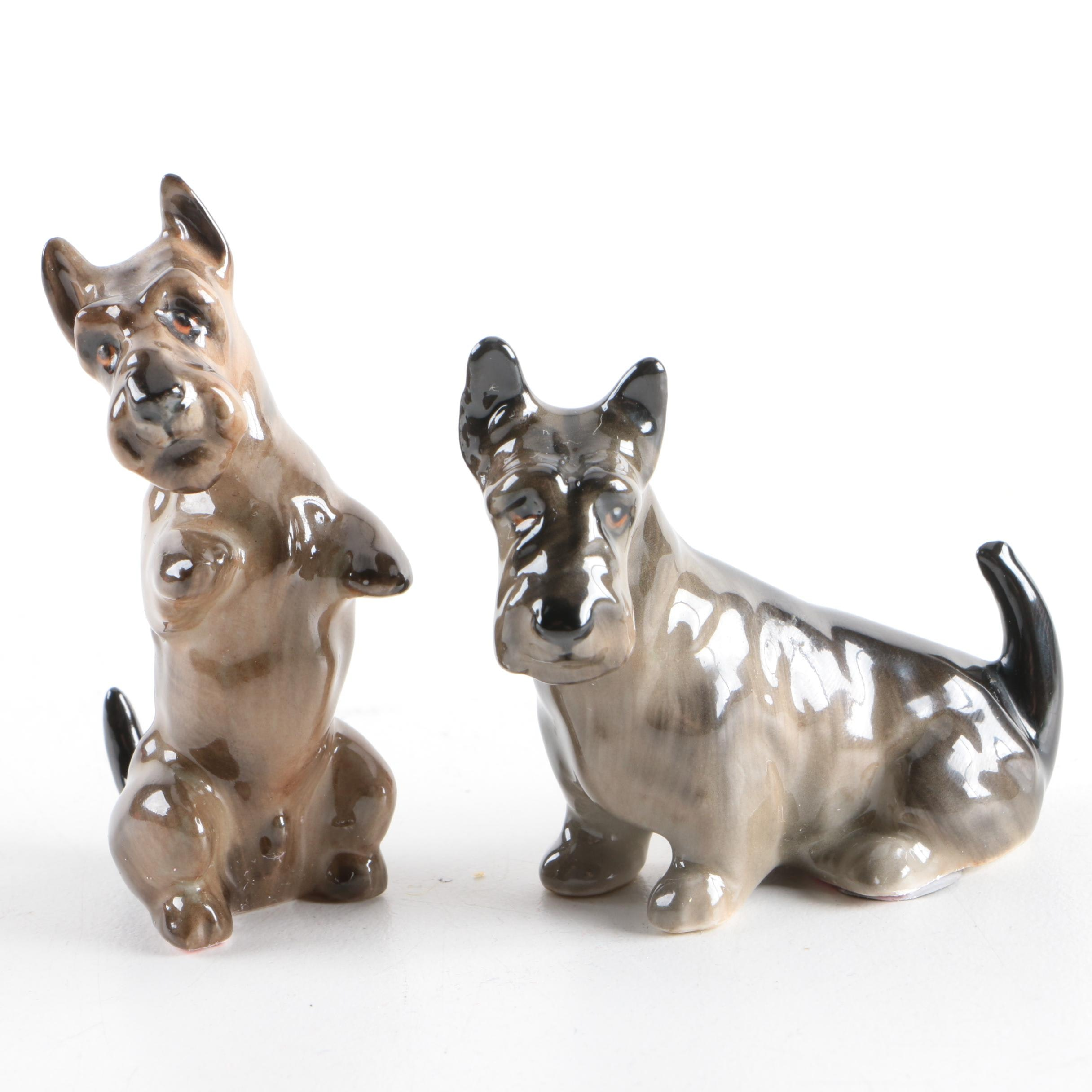 Group of Royal Doulton Scottish Terrier Figurines